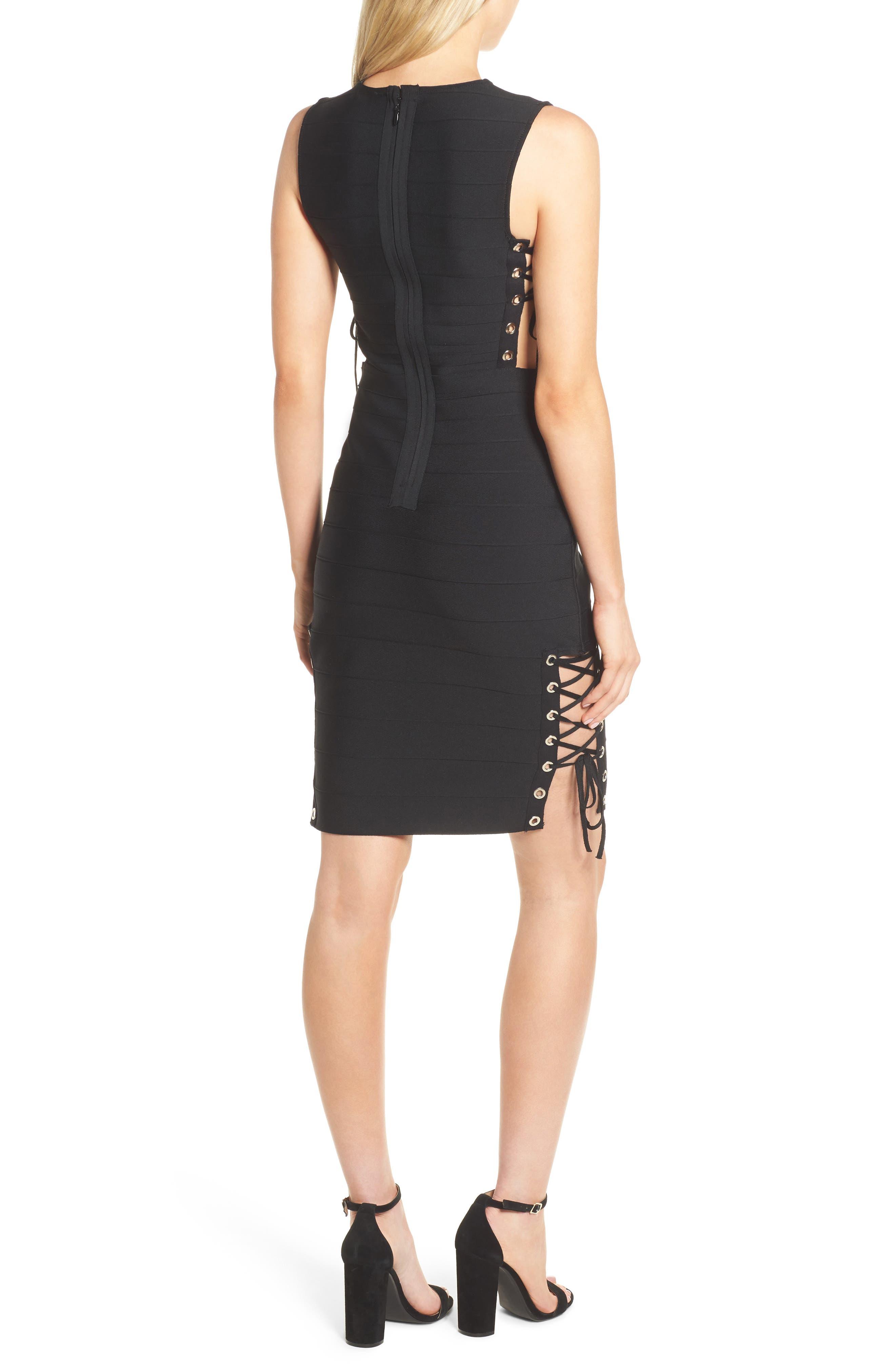 Alternate Image 2  - Sentimental NY Lace-Up Bandage Dress