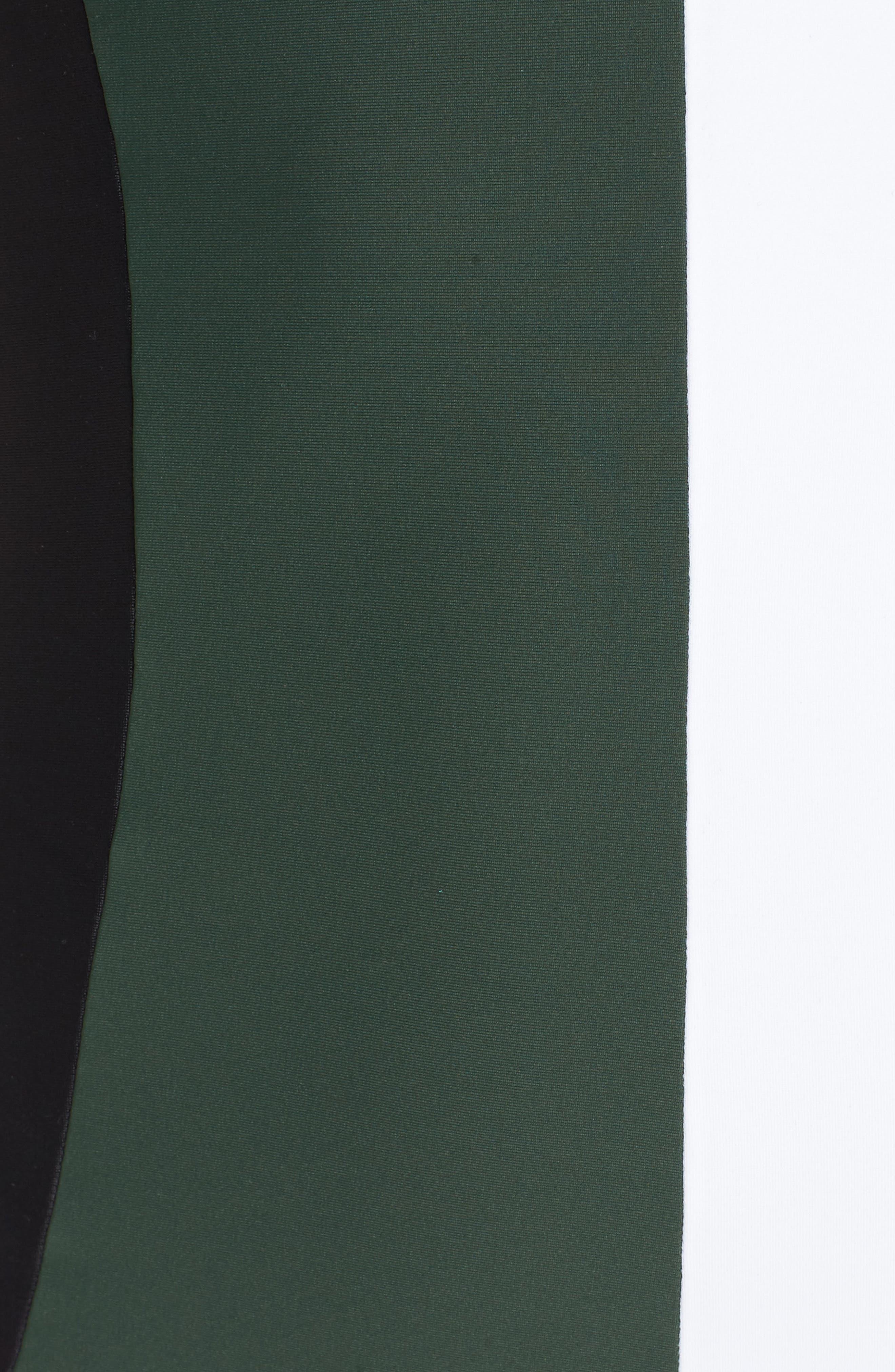 Farrah Colorblock One-Piece Swimsuit,                             Alternate thumbnail 5, color,                             Army