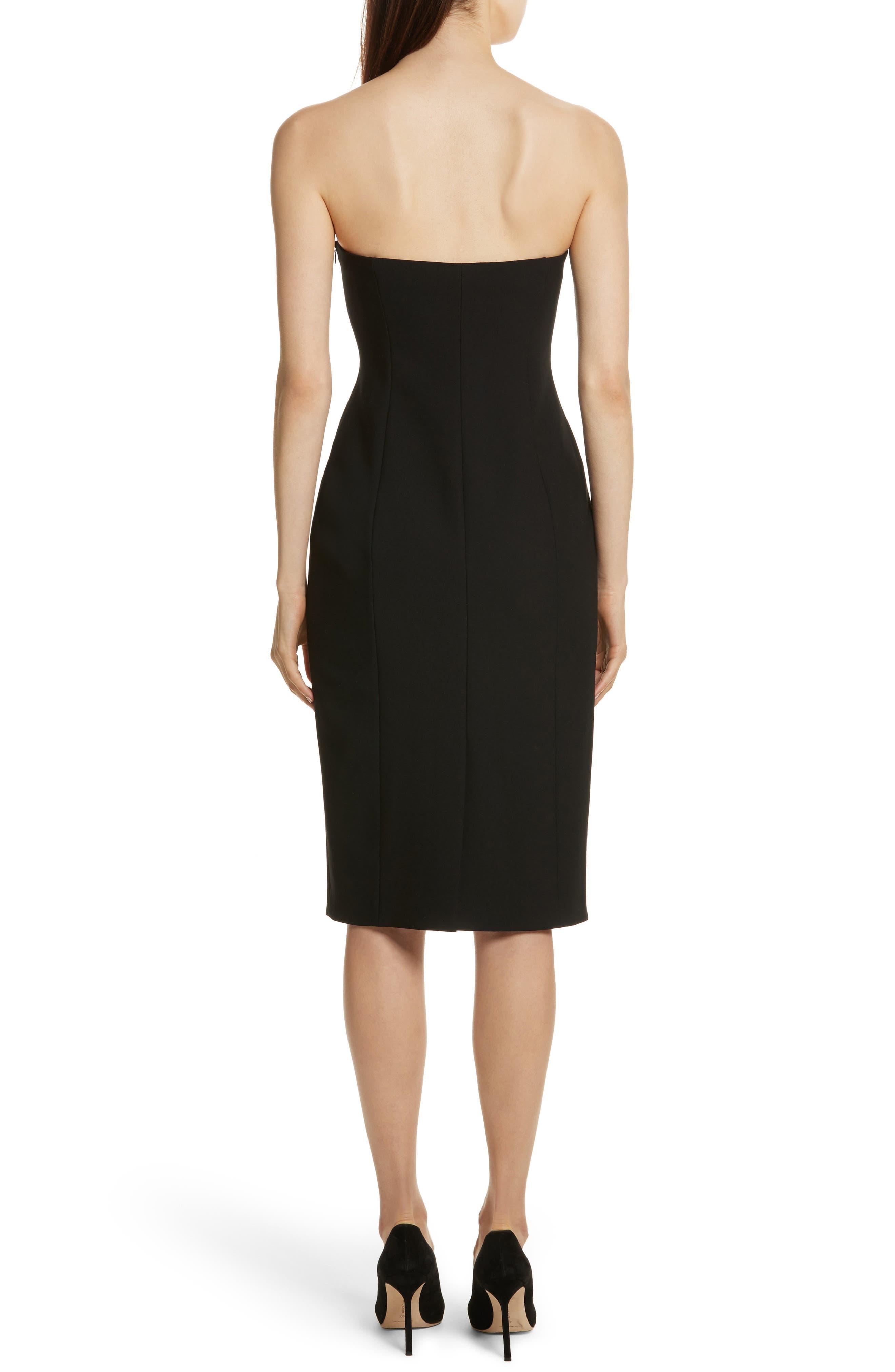 Jolie Marceau Strapless Dress,                             Alternate thumbnail 2, color,                             Black