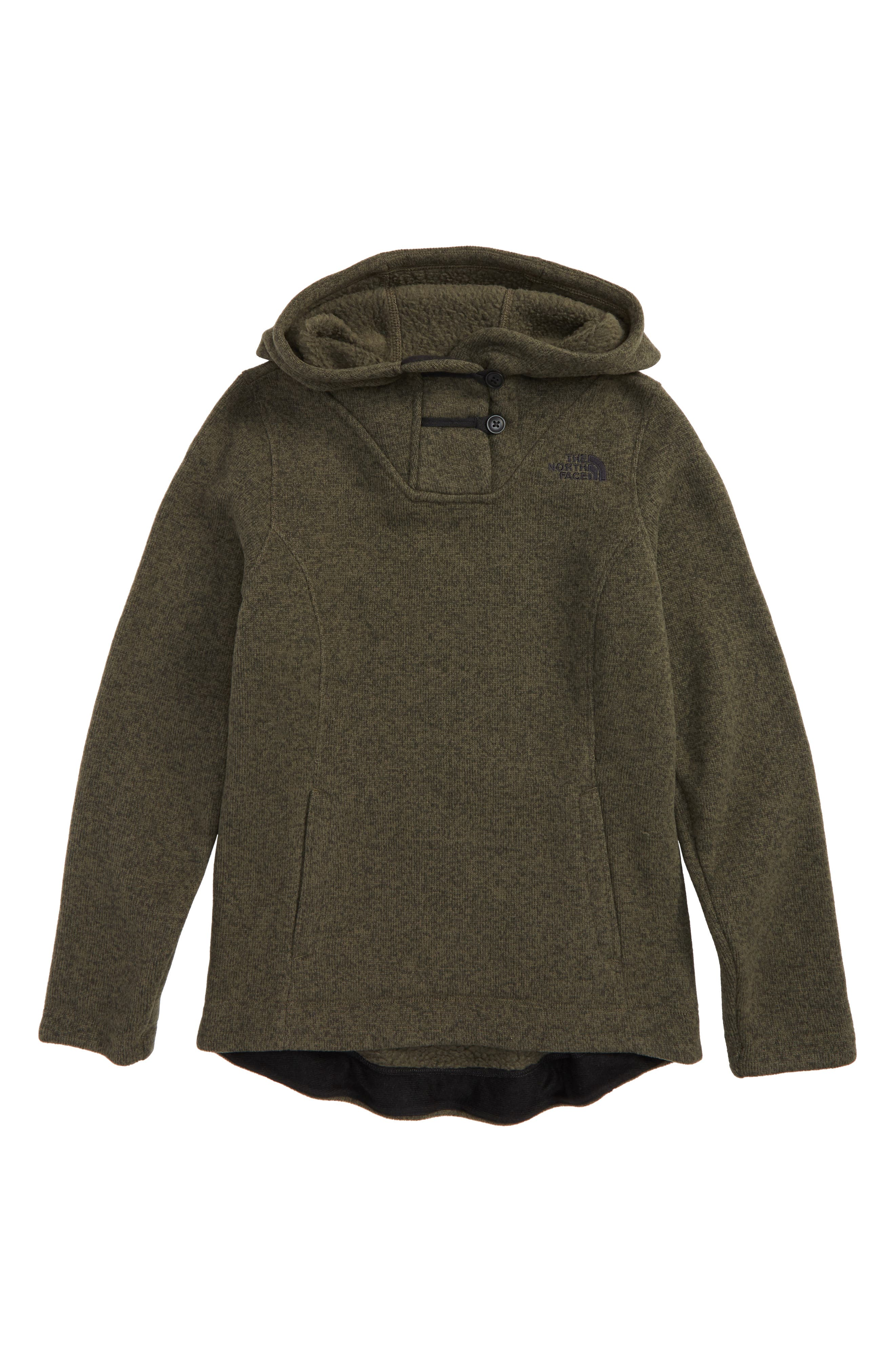 Crescent Sunset Hoodie,                             Main thumbnail 1, color,                             Taupe Green Heather