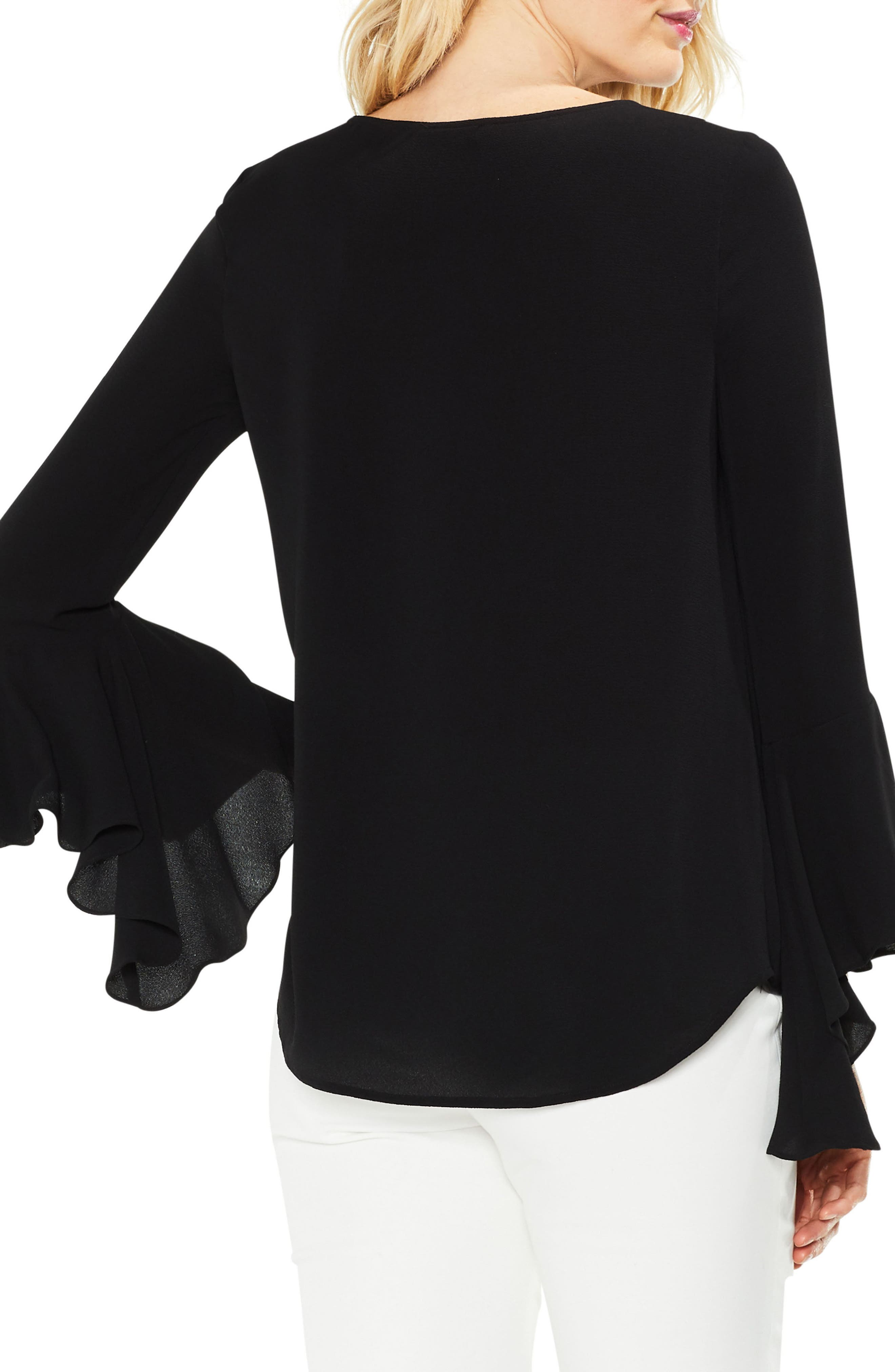 Alternate Image 2  - Vince Camuto Bell Cuff Foldover Blouse