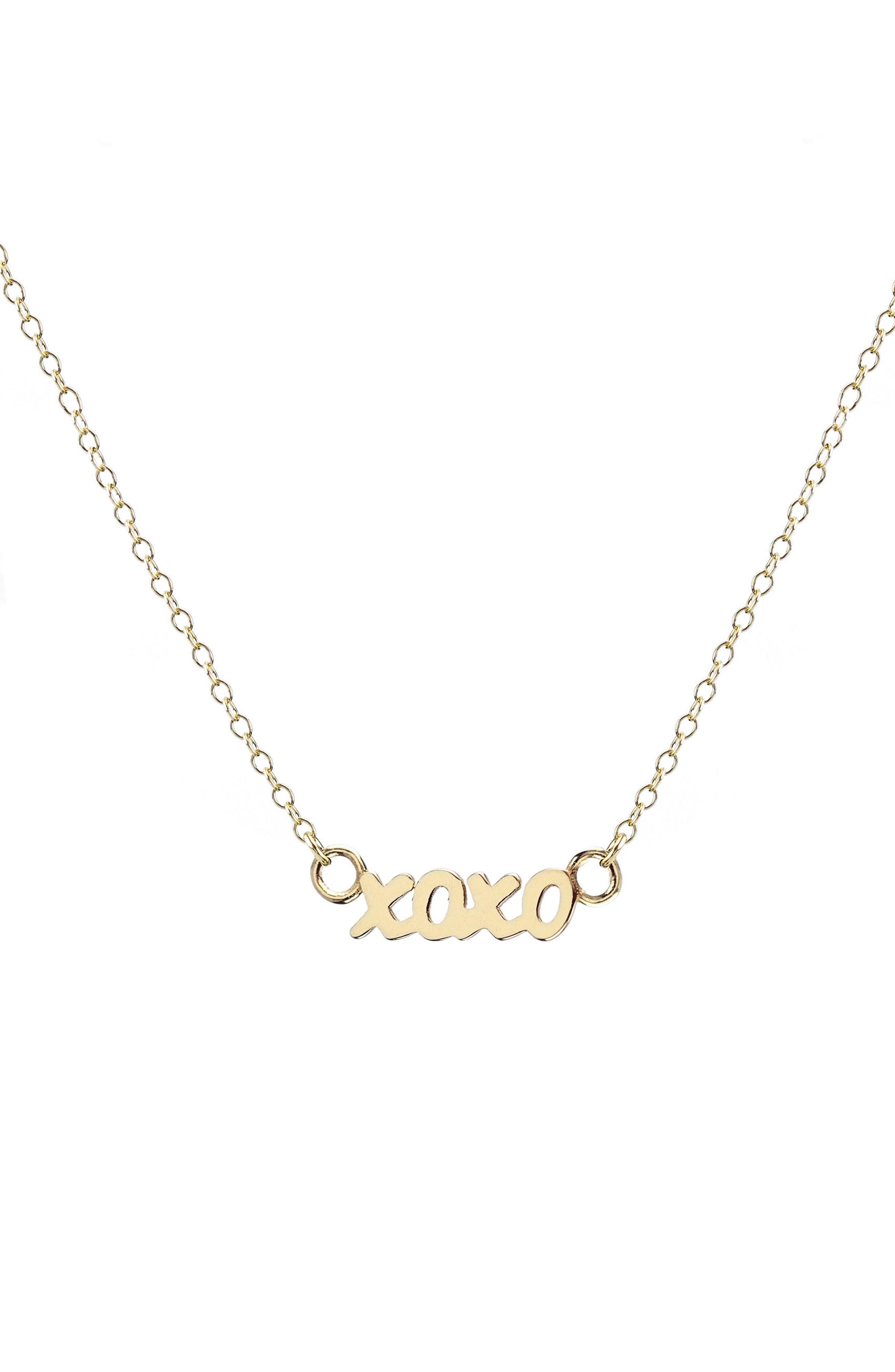 Kris Nations XOXO Script Necklace