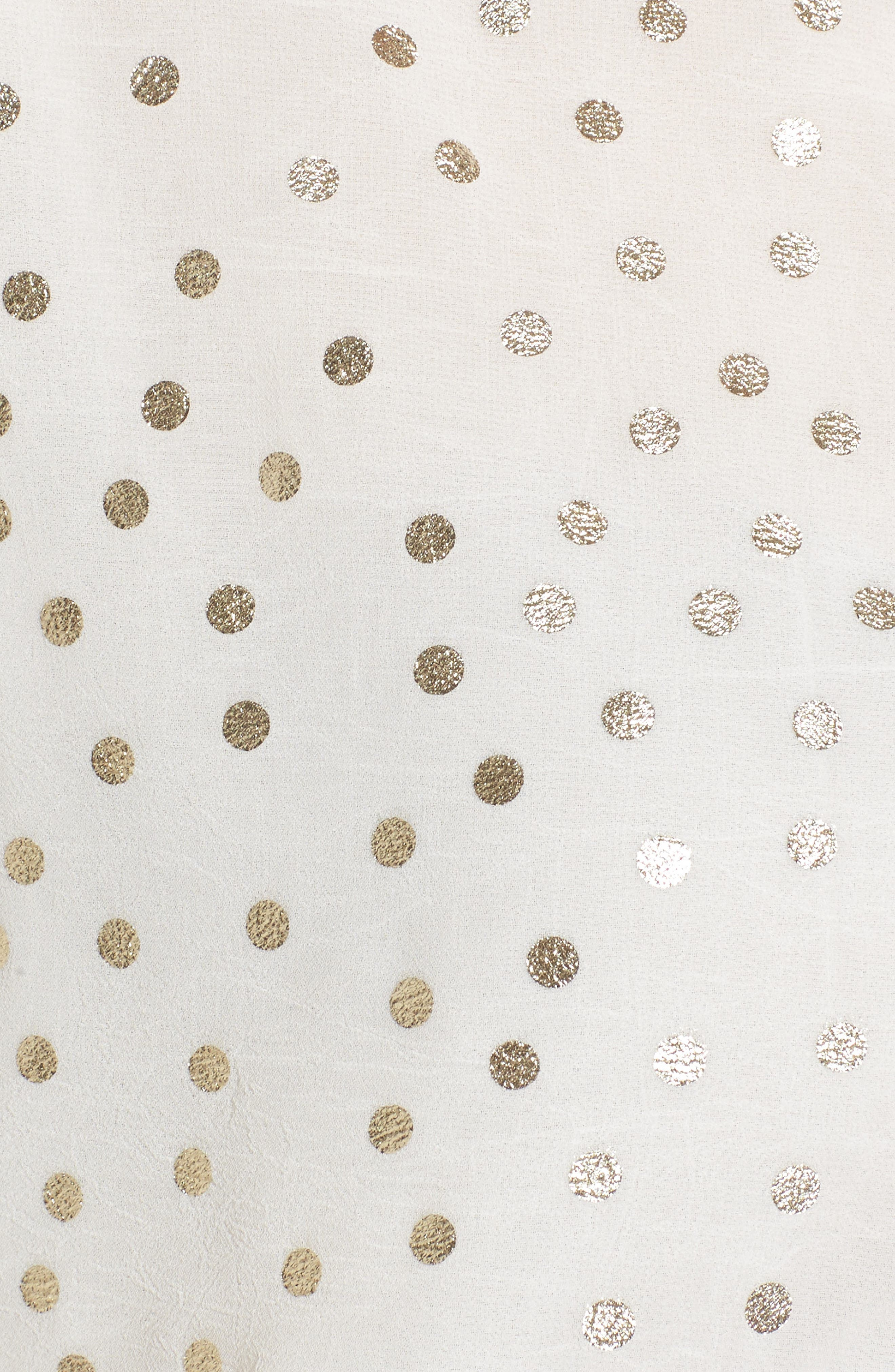 Foil Dot Blouse,                             Alternate thumbnail 6, color,                             Cream