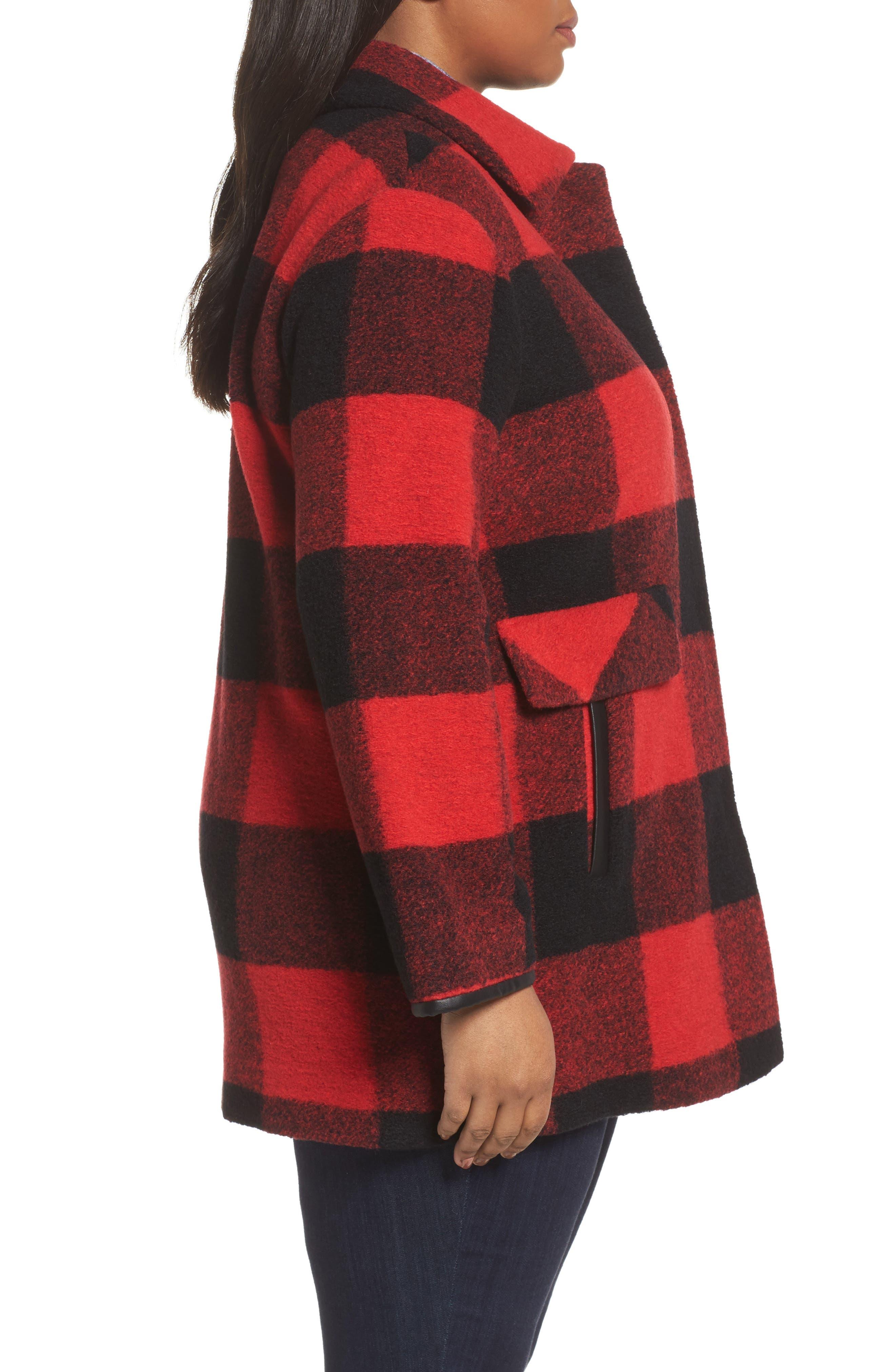Alternate Image 3  - Pendleton Paul Bunyan Plaid Wool Blend Barn Coat (Plus Size)