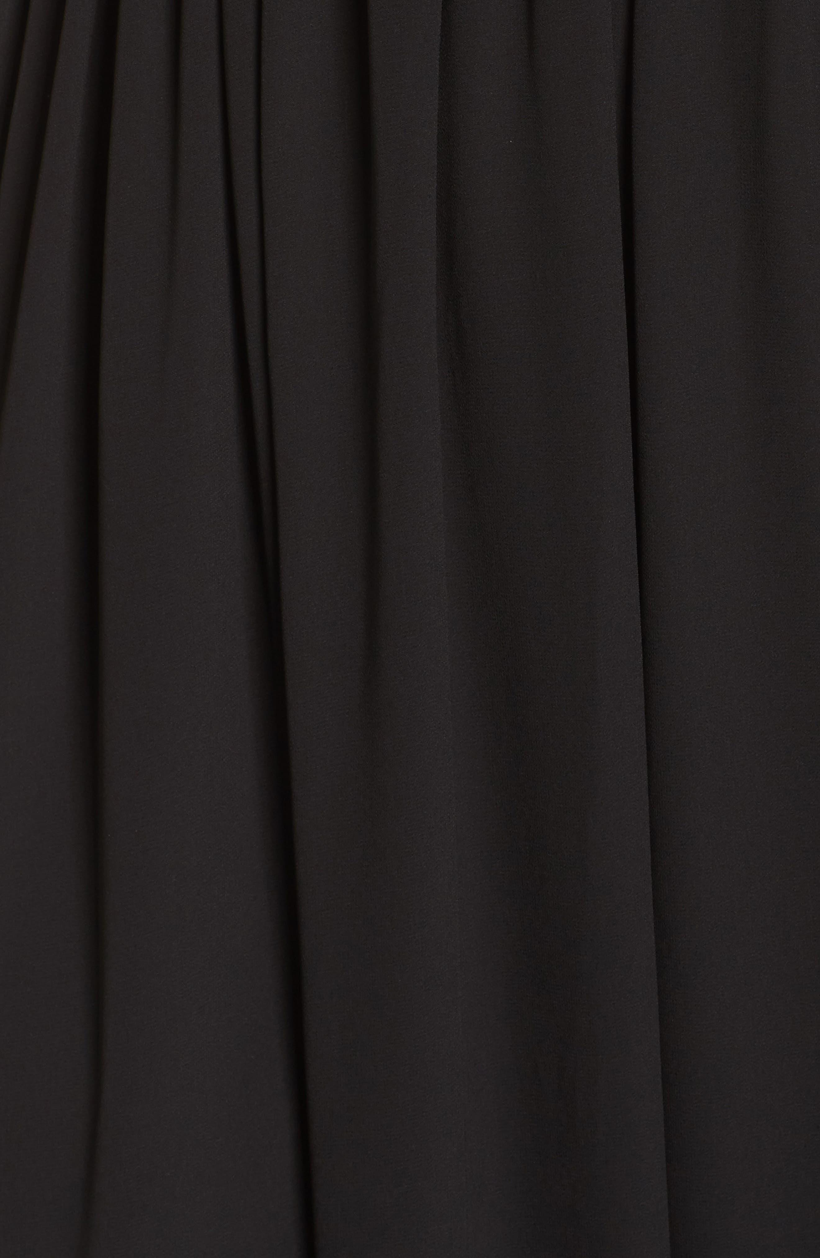 Lace Inset Maxi Dress,                             Alternate thumbnail 5, color,                             Black