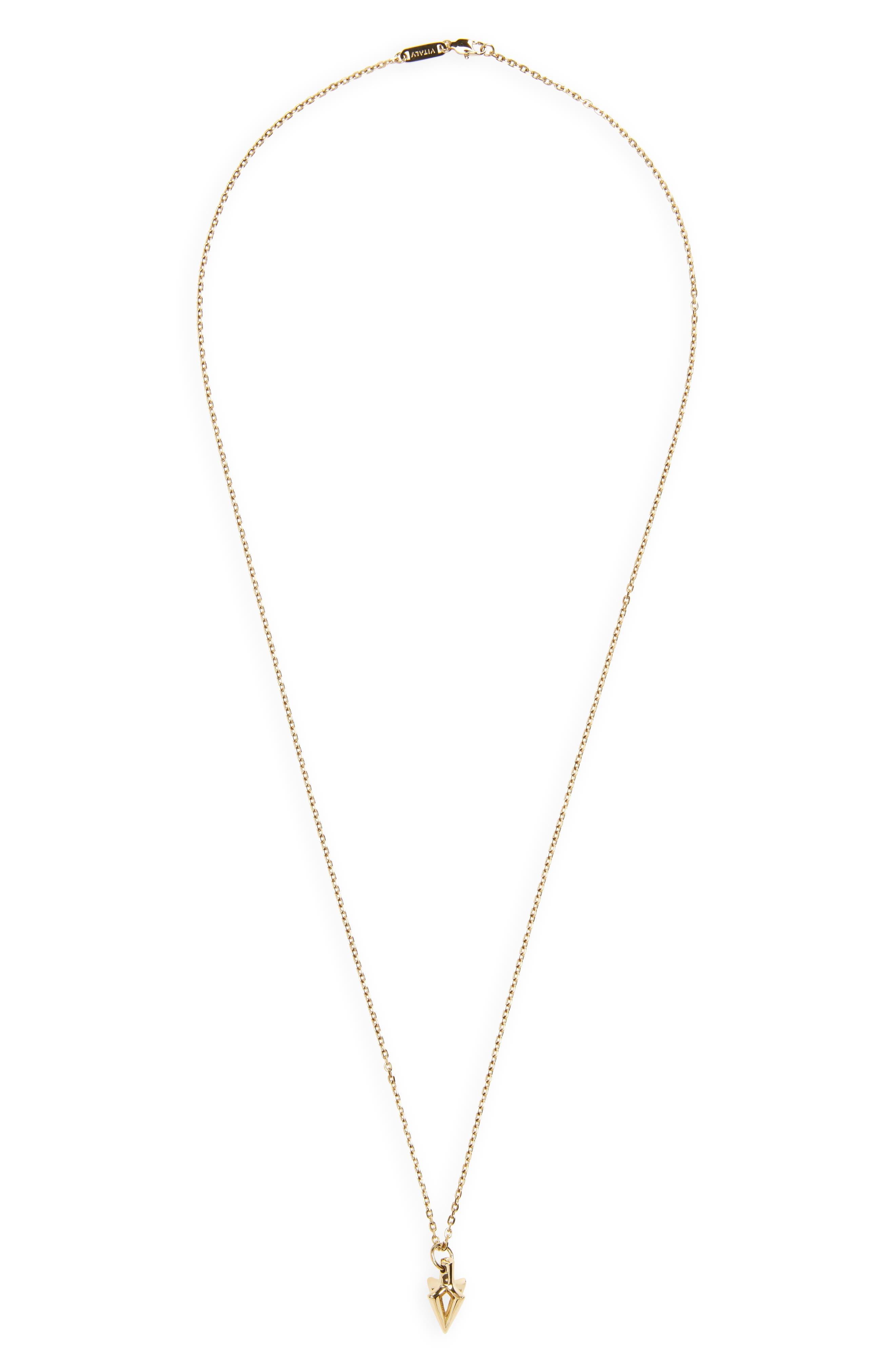 Arcus Pendant Necklace,                             Main thumbnail 1, color,                             Gold
