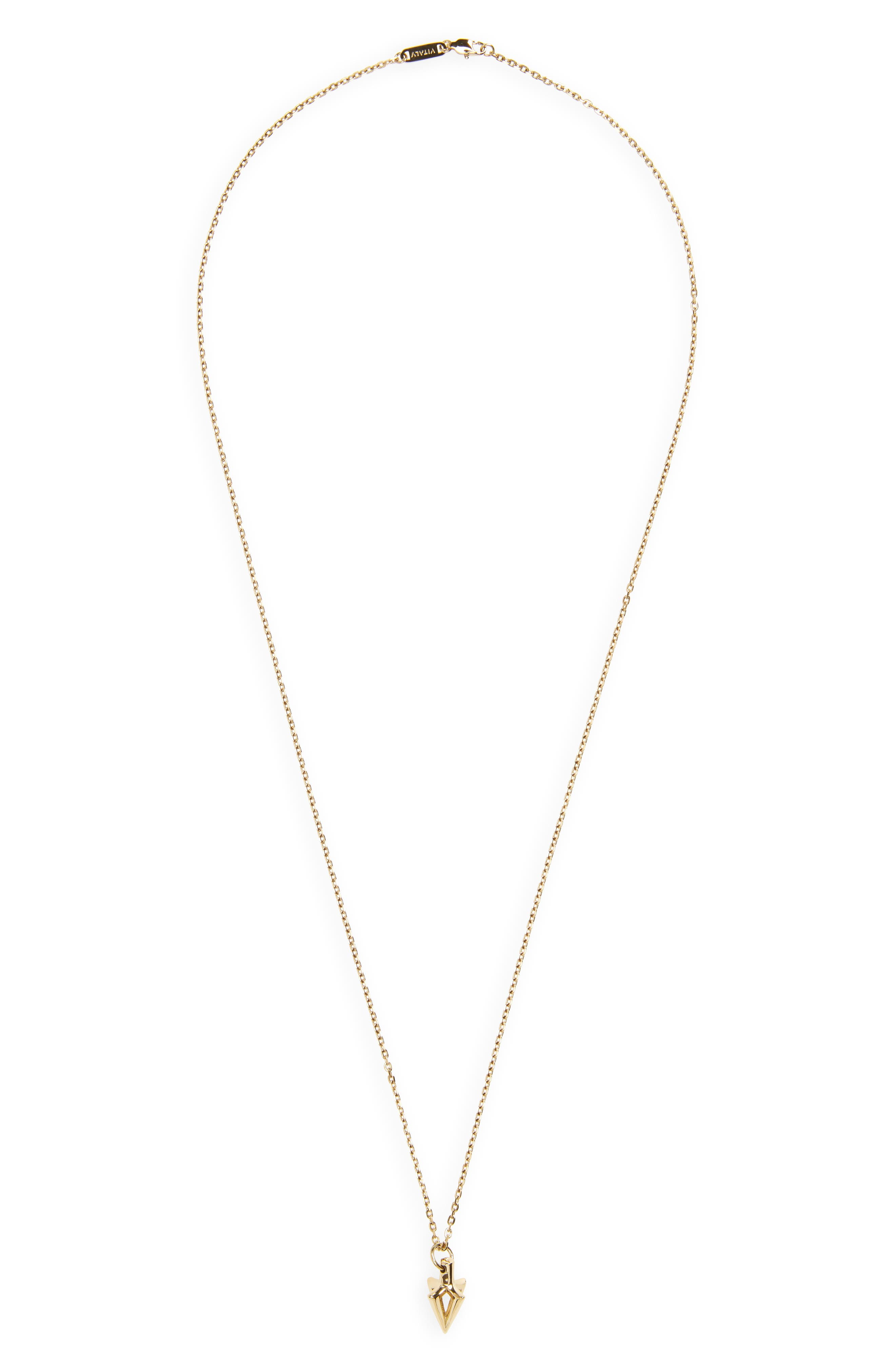 Arcus Pendant Necklace,                         Main,                         color, Gold