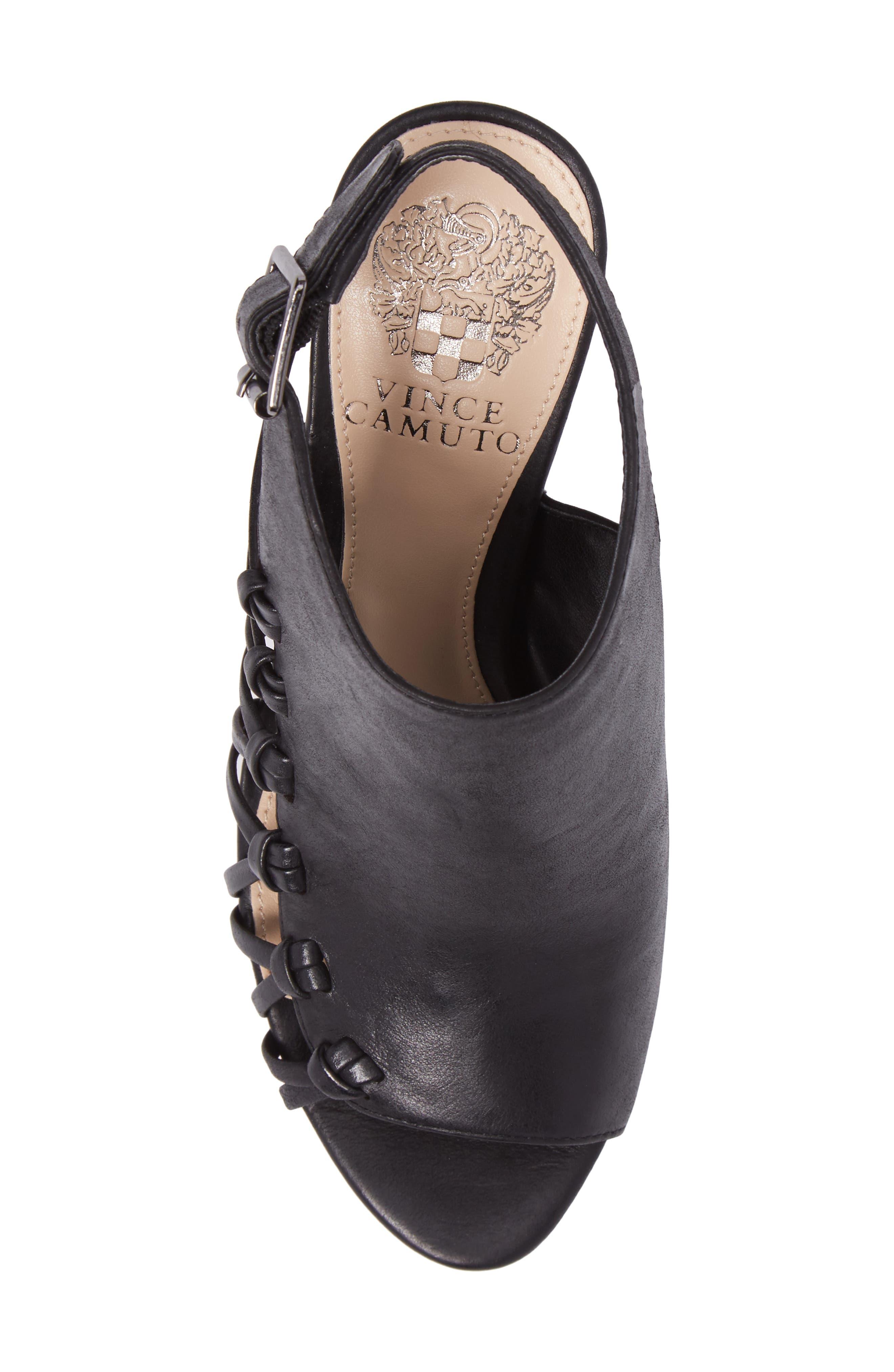 Ankara Sandal,                             Alternate thumbnail 5, color,                             Black Leather