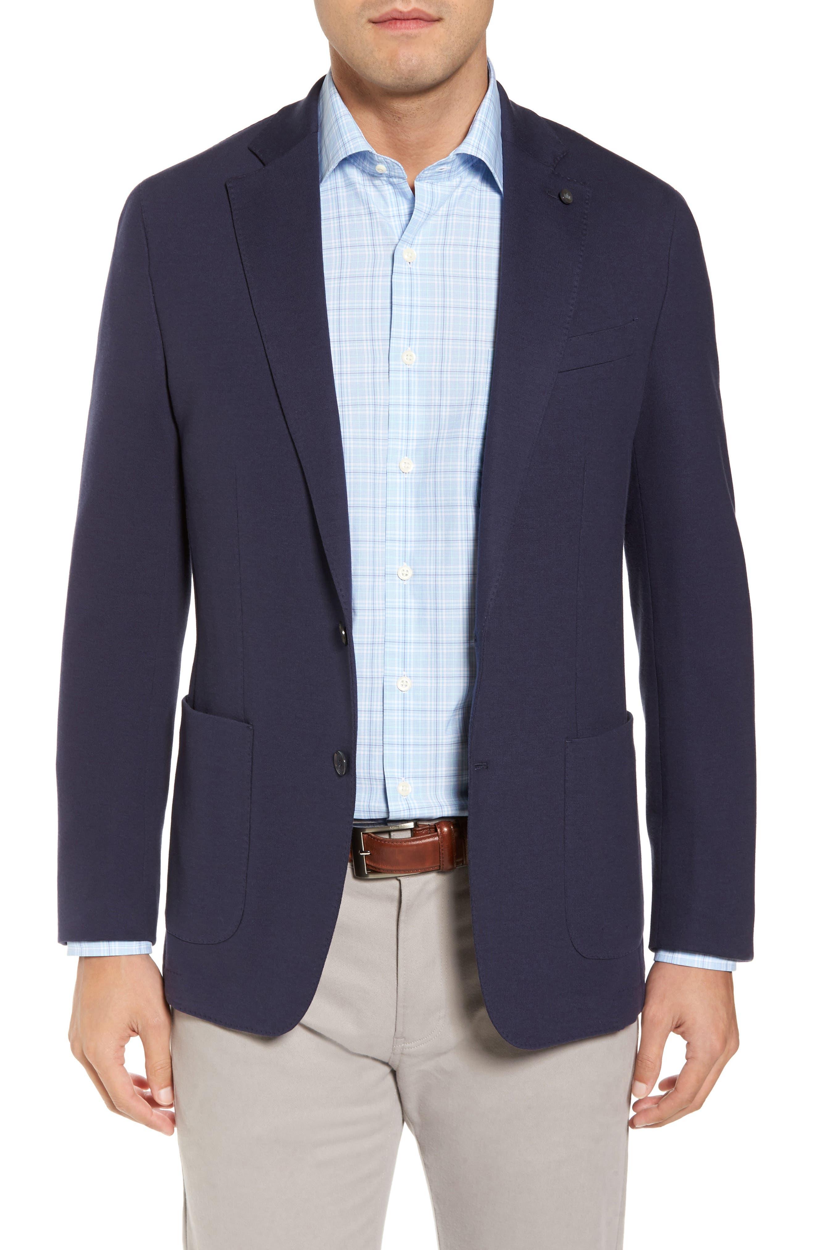 Santorini Jersey Knit Jacket,                         Main,                         color, Starlight Blue