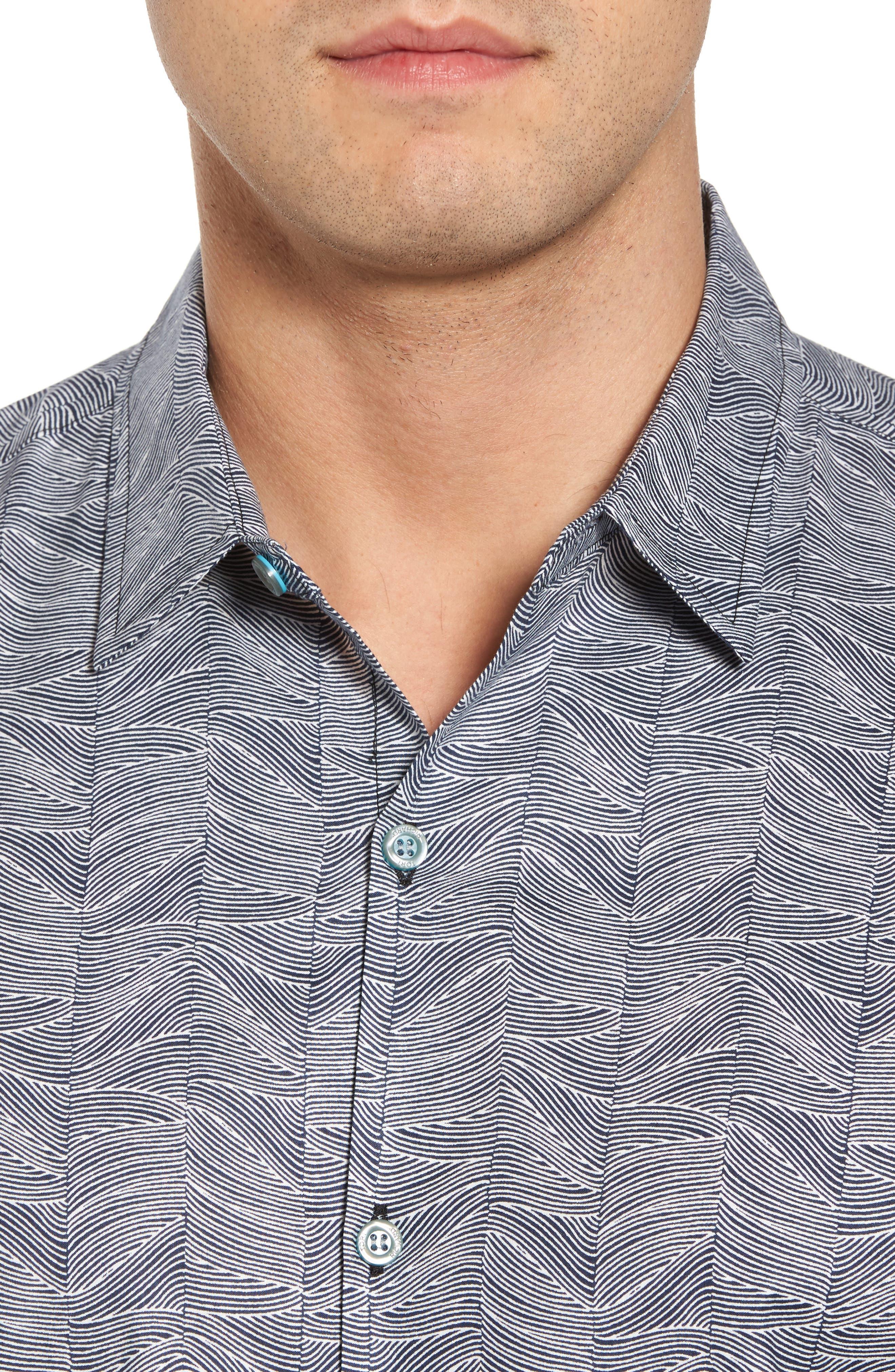 Alternate Image 4  - Tori Richard Vertigo Trim Fit Print Sport Shirt
