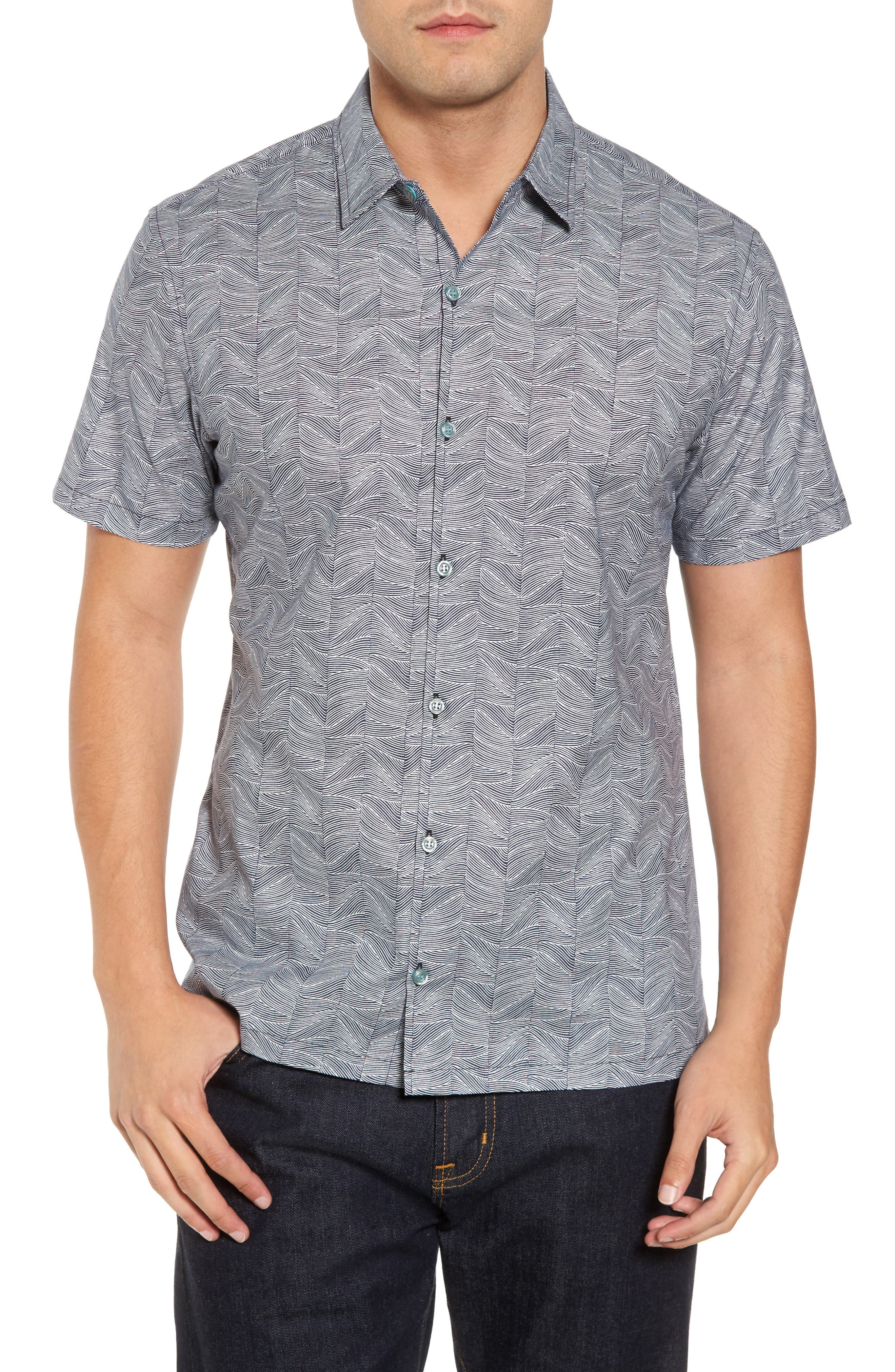 Alternate Image 1 Selected - Tori Richard Vertigo Trim Fit Print Sport Shirt
