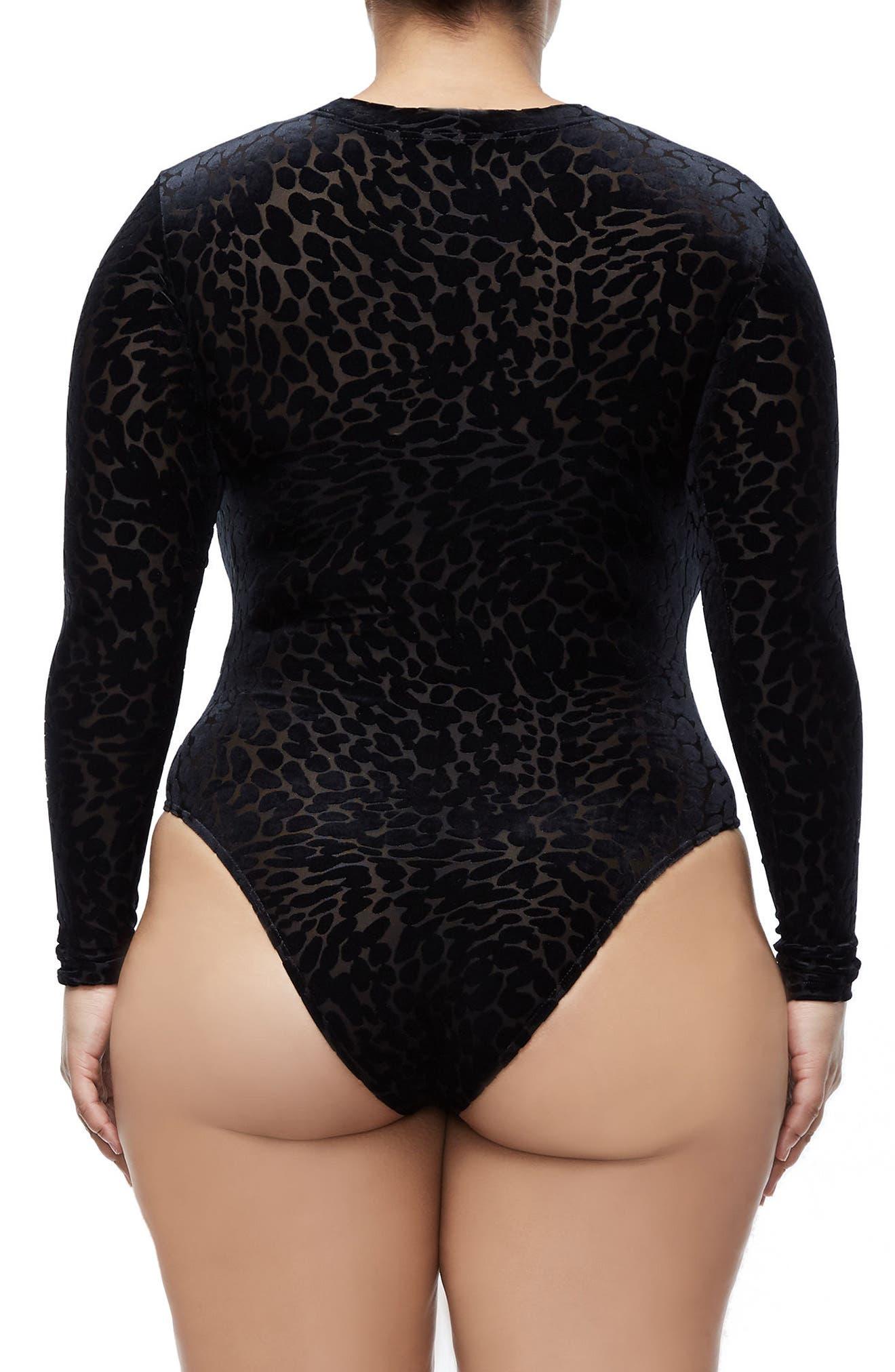 The Wilder One Bodysuit,                             Alternate thumbnail 7, color,                             Black001