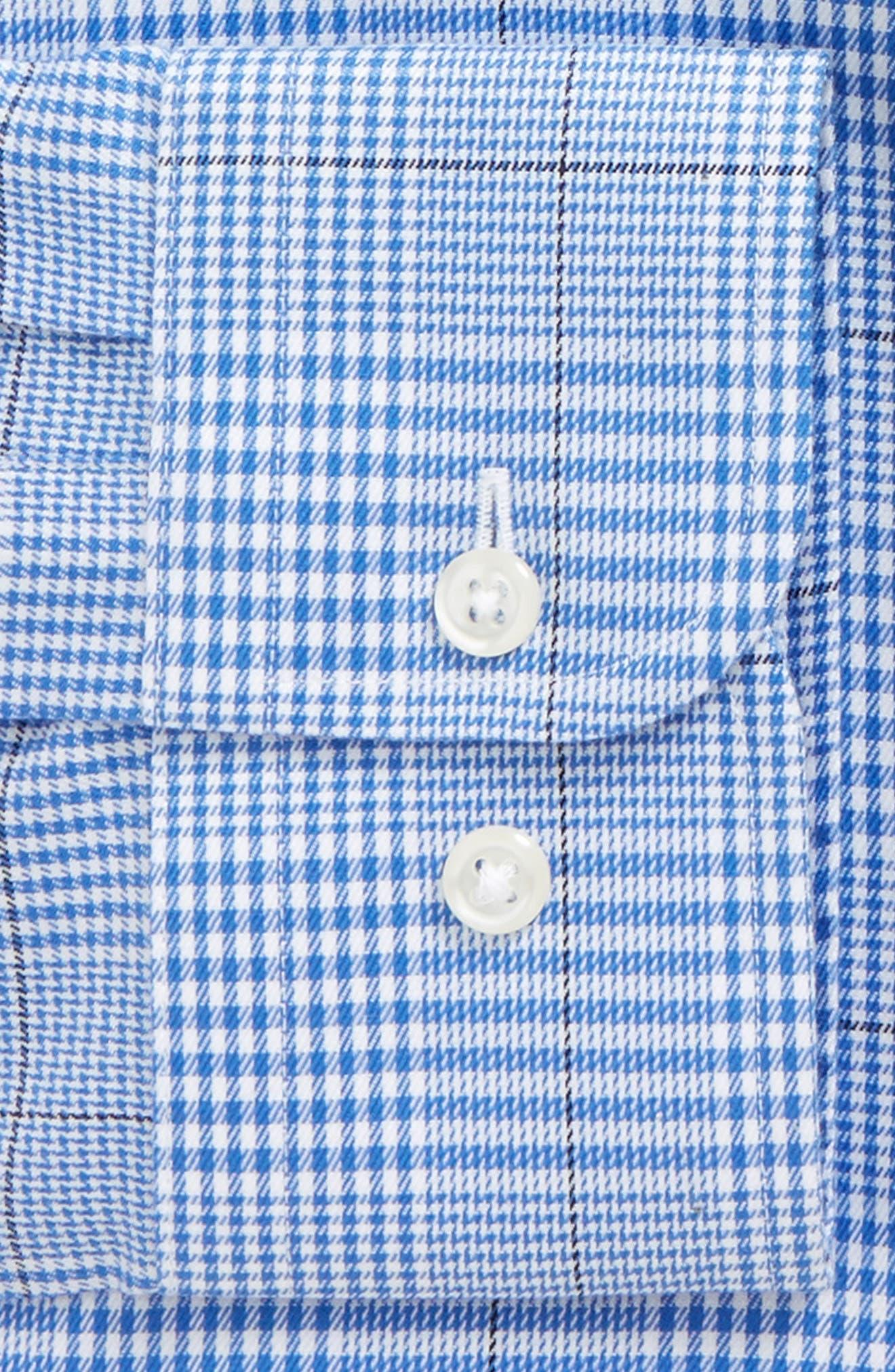 Smartcare<sup>™</sup> Trim Fit Plaid Dress Shirt,                             Alternate thumbnail 2, color,                             Blue Yonder