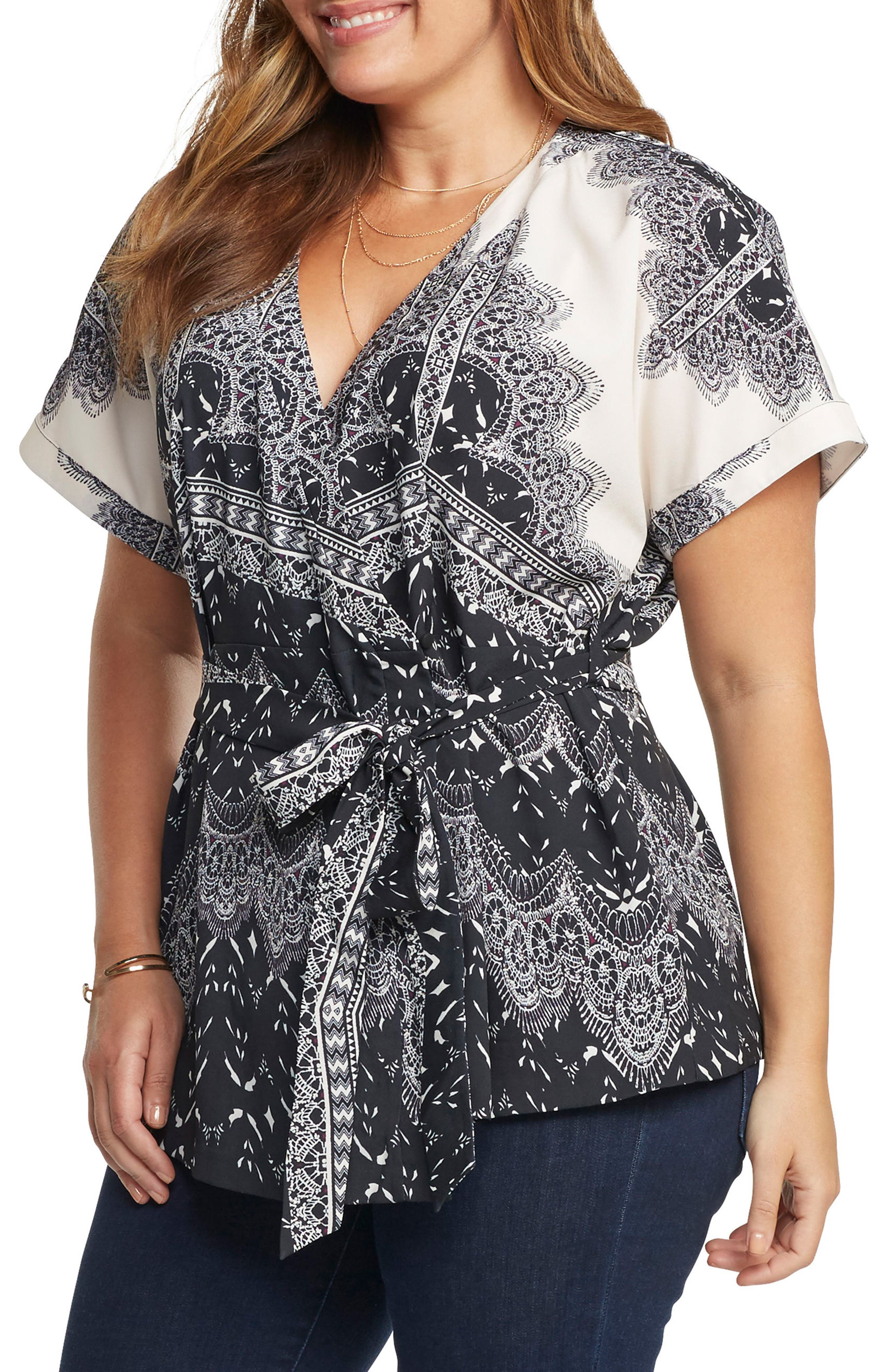 Alternate Image 3  - Tart Ann Wrap Top (Plus Size)