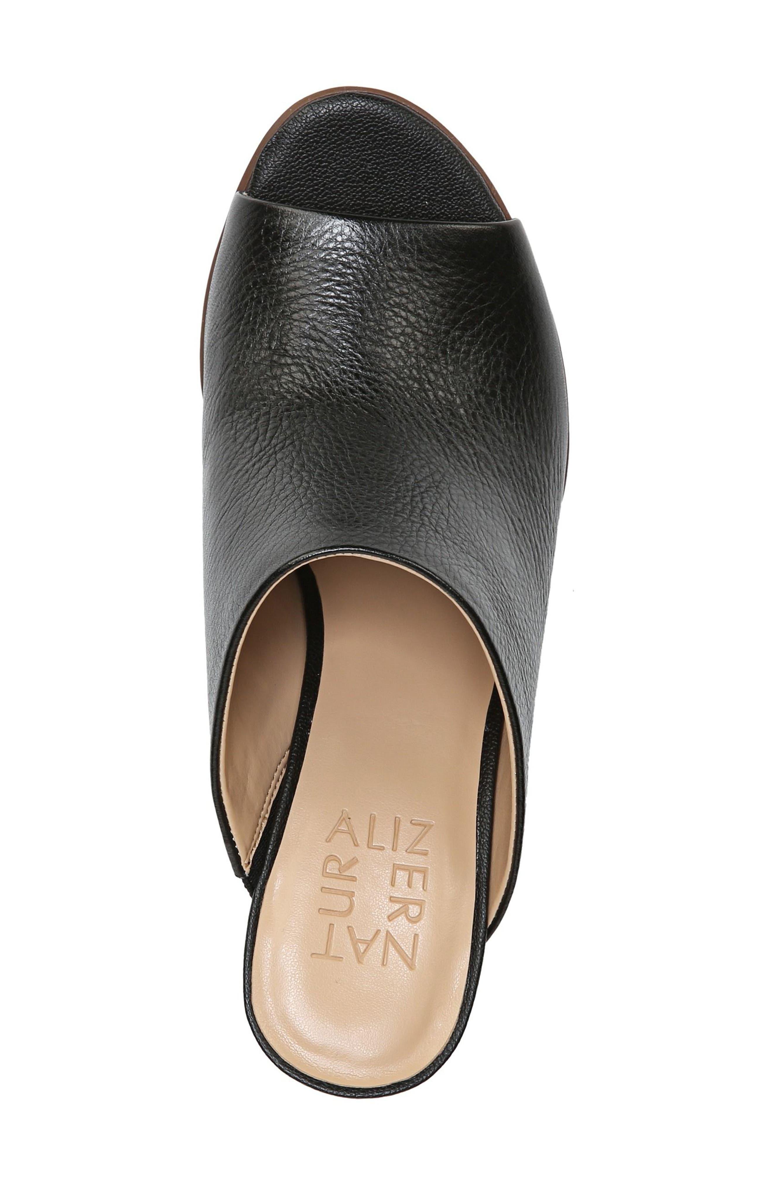 Sloan Sandal,                             Alternate thumbnail 5, color,                             Black Pebbled Leather
