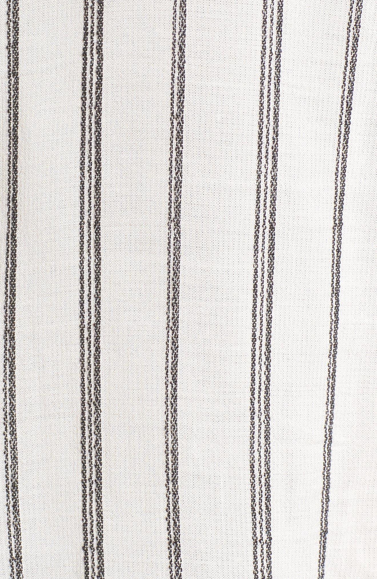 Alternate Image 5  - Lucky Brand Woven Stripe Top