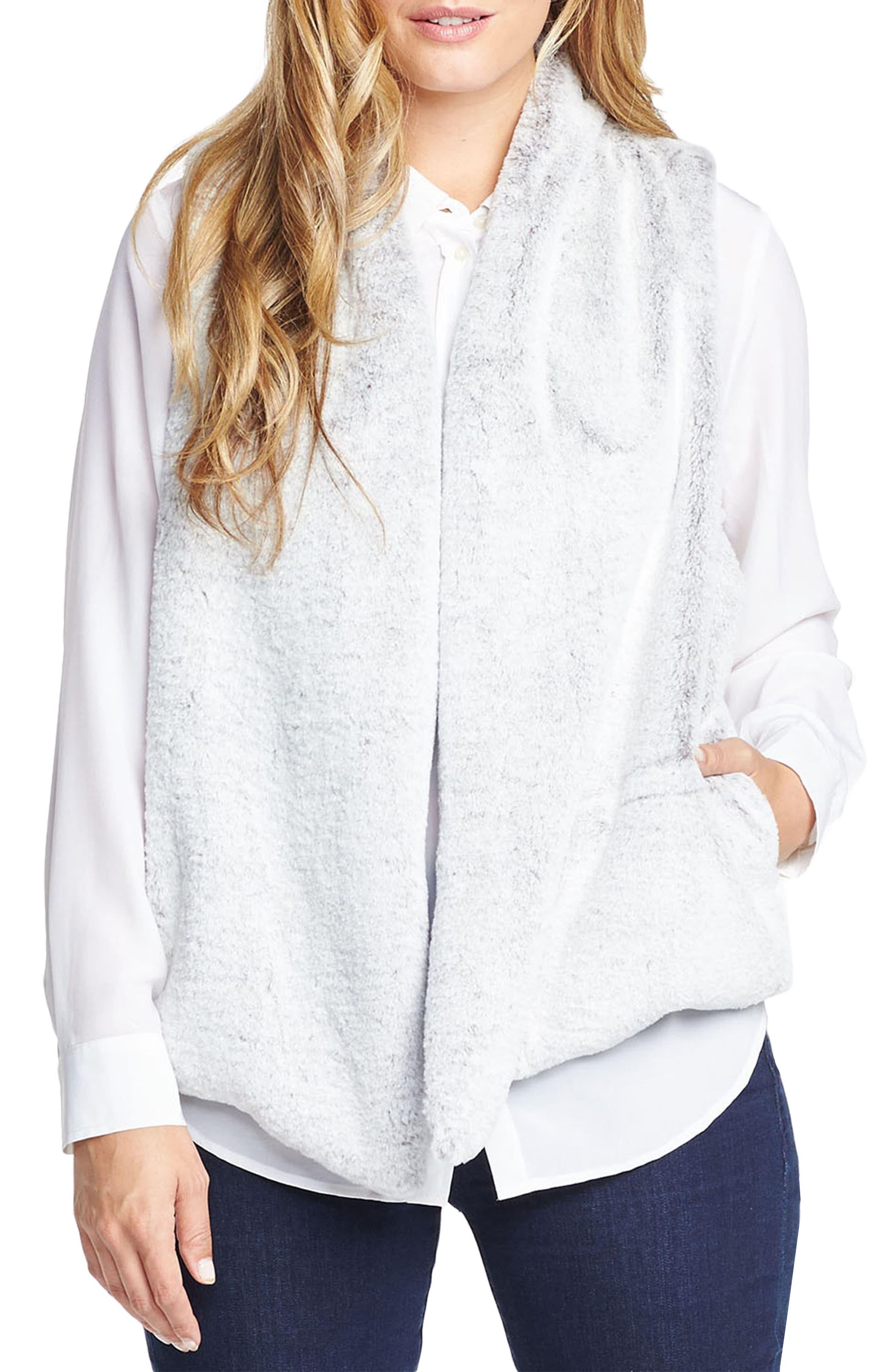 Alternate Image 1 Selected - Tart 'Kya' Faux Fur Vest (Plus Size)
