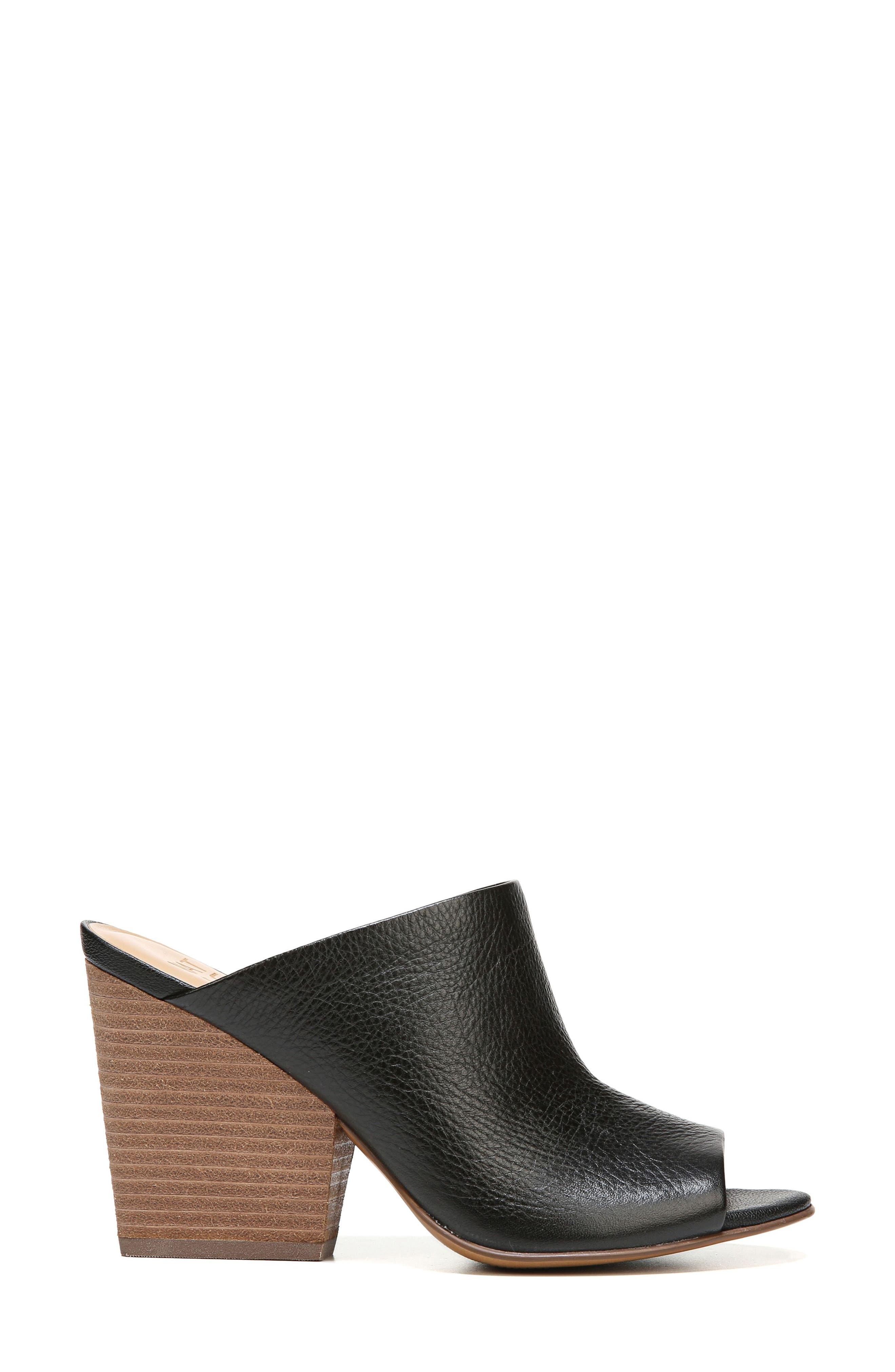 Sloan Sandal,                             Alternate thumbnail 3, color,                             Black Pebbled Leather