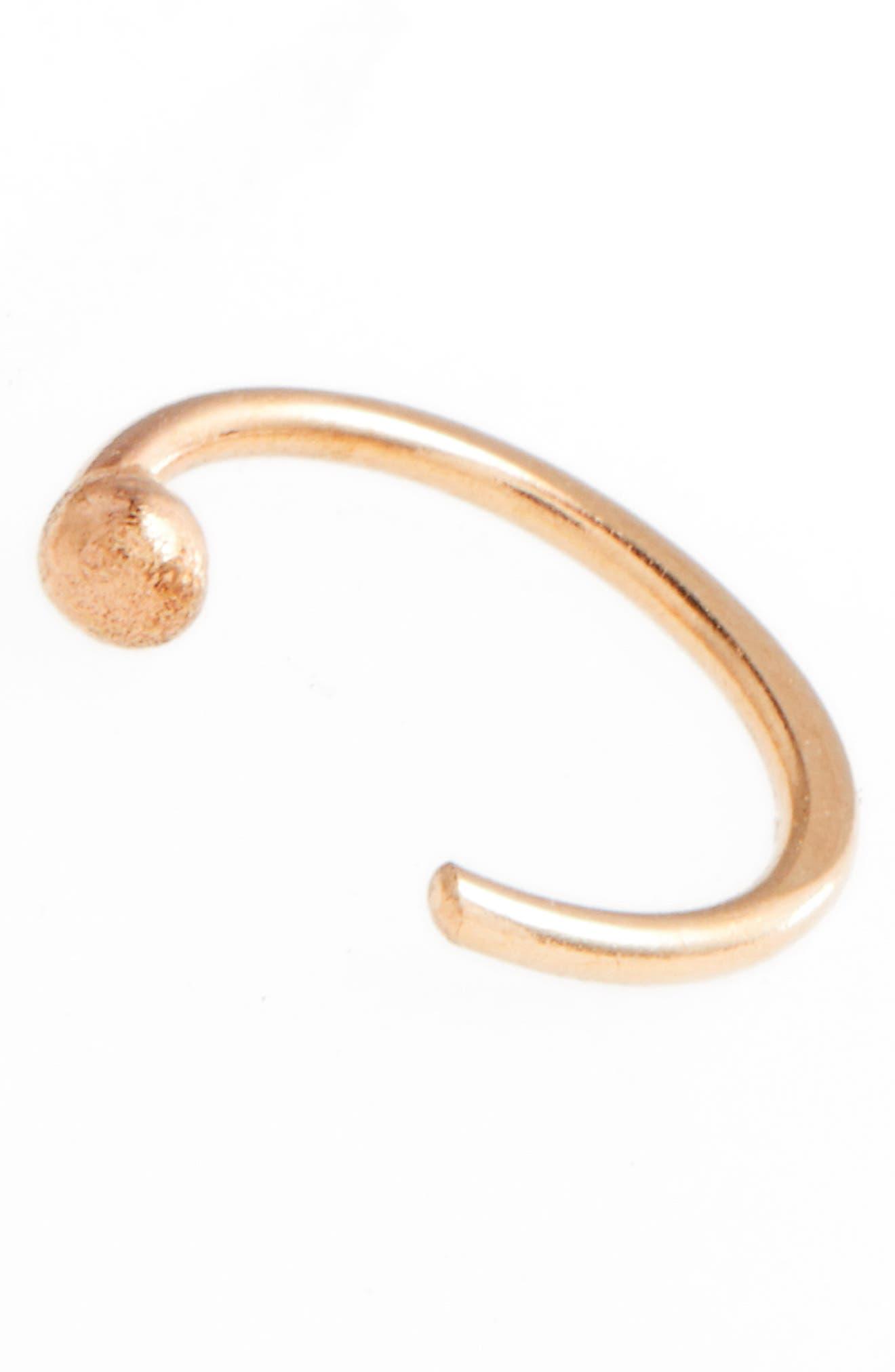 Alternate Image 5  - Melissa Joy Manning Gold Hug Hoop Earrings