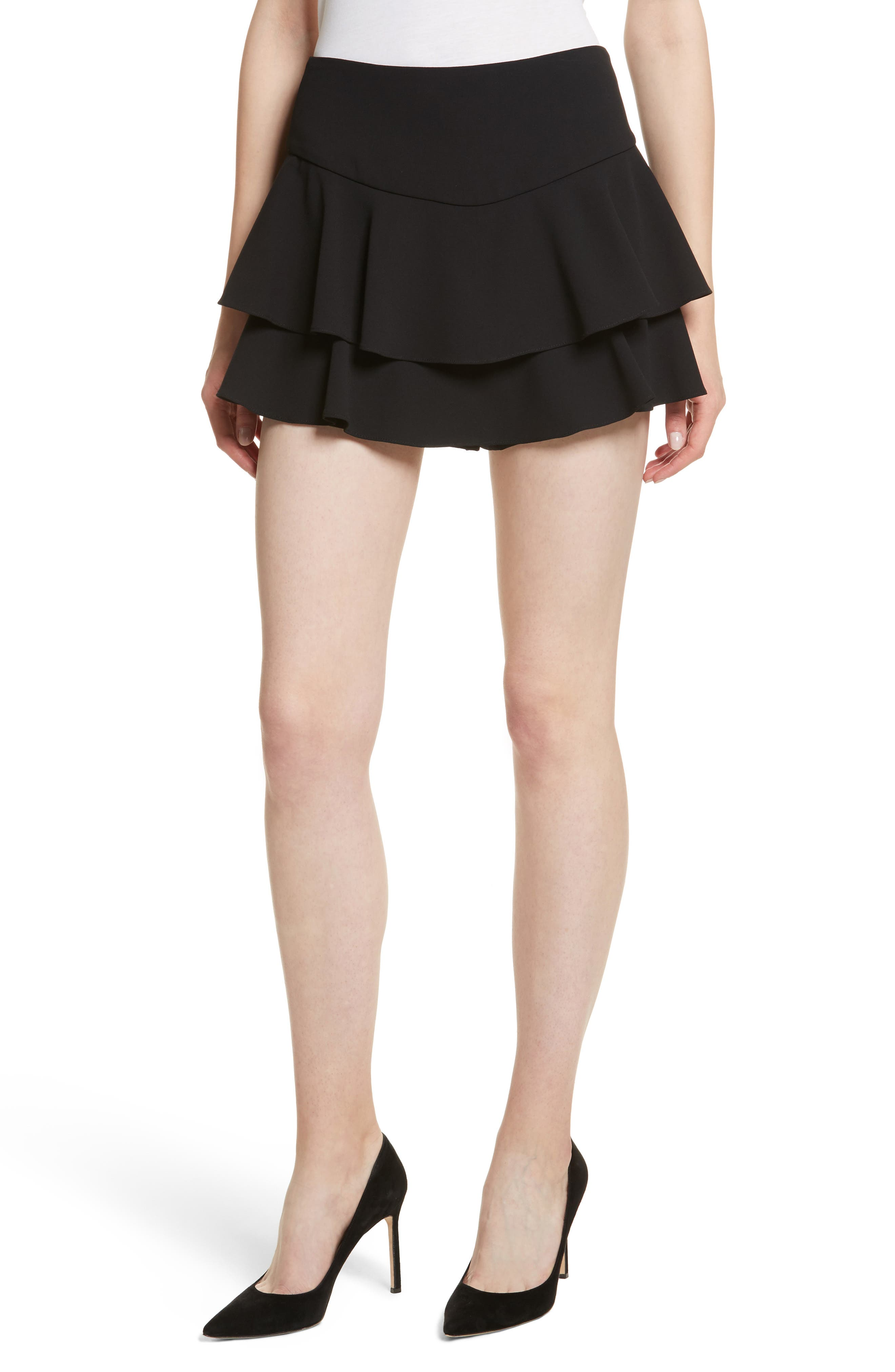 Paloma Ruffle Skort,                         Main,                         color, Black