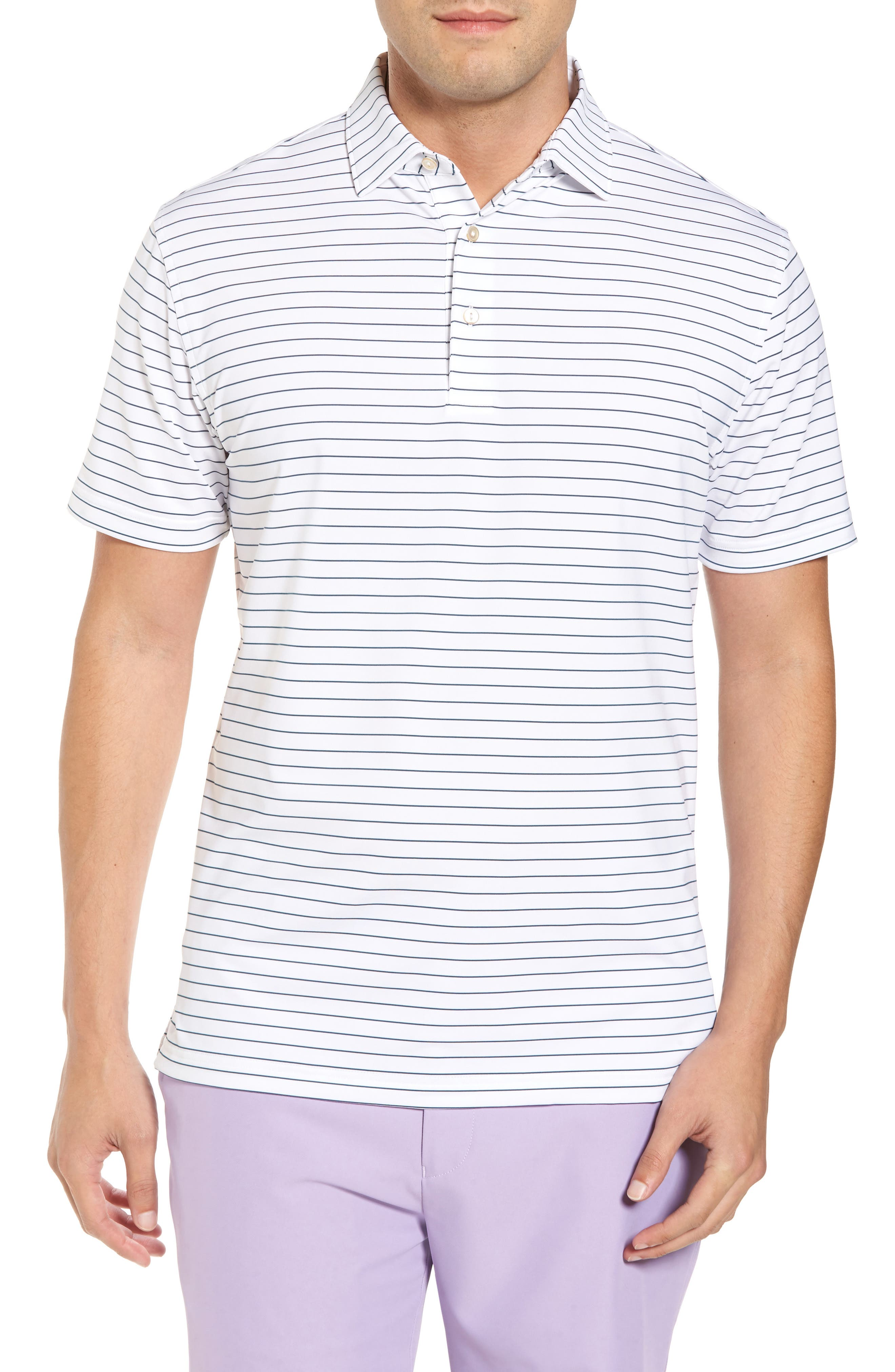 Alternate Image 1 Selected - Peter Millar Halifax Pinstripe Stretch Jersey Polo