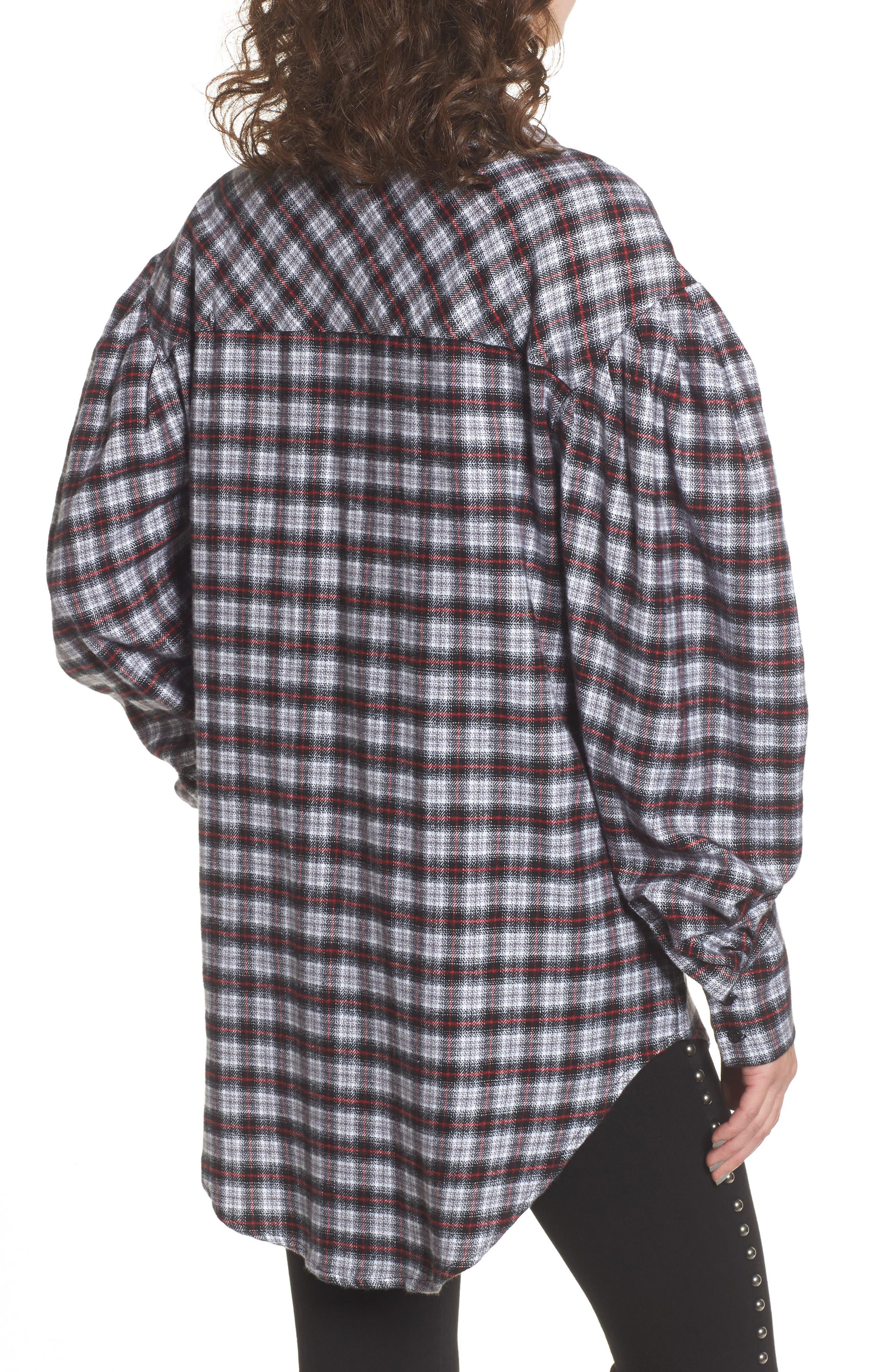 Alternate Image 2  - AFRM Victoria Oversize Flannel Shirt