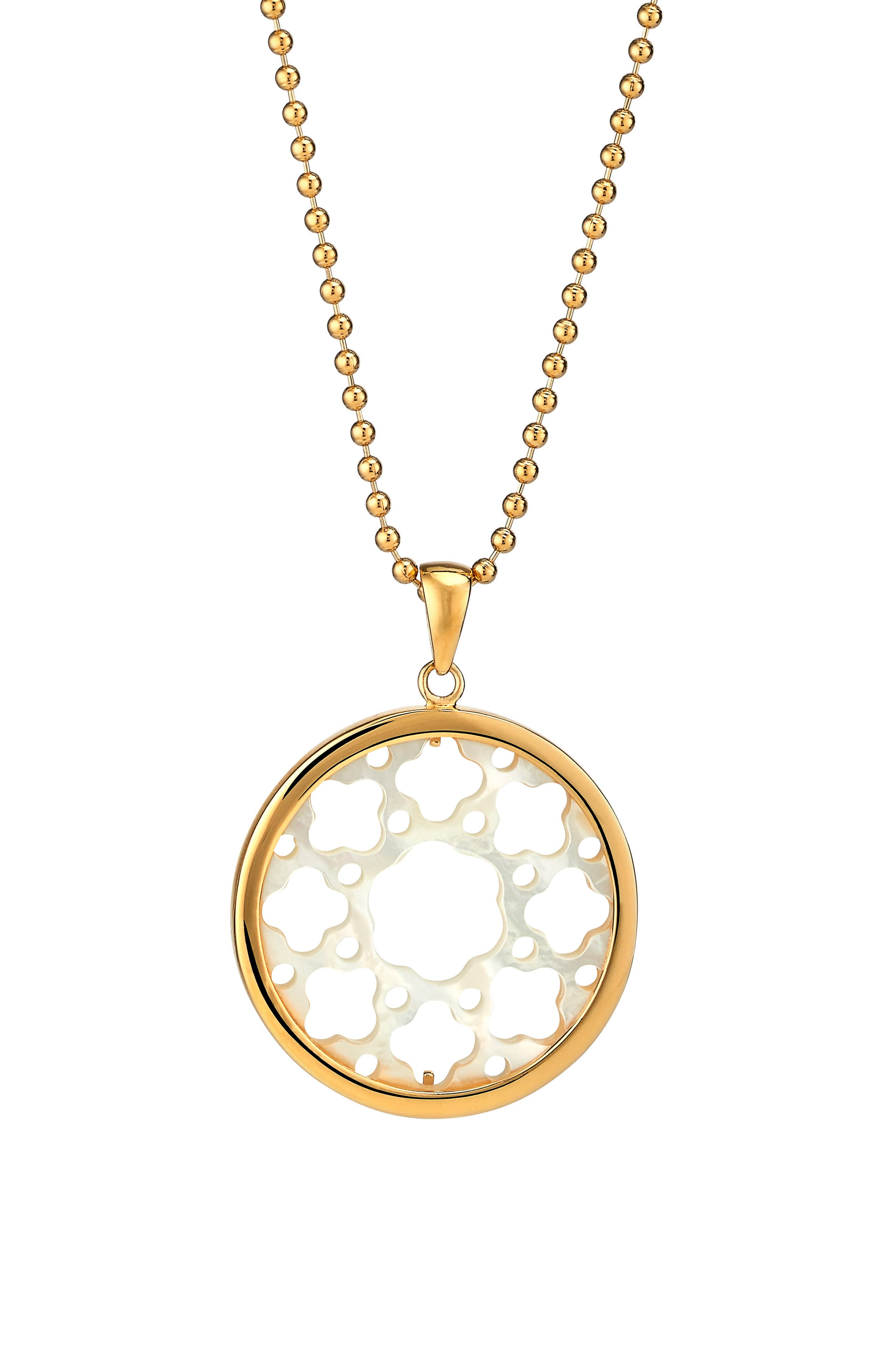 Carlotta Mother-of-Pearl Long Pendant Necklace,                             Main thumbnail 1, color,                             Gold - Mother Of Pearl