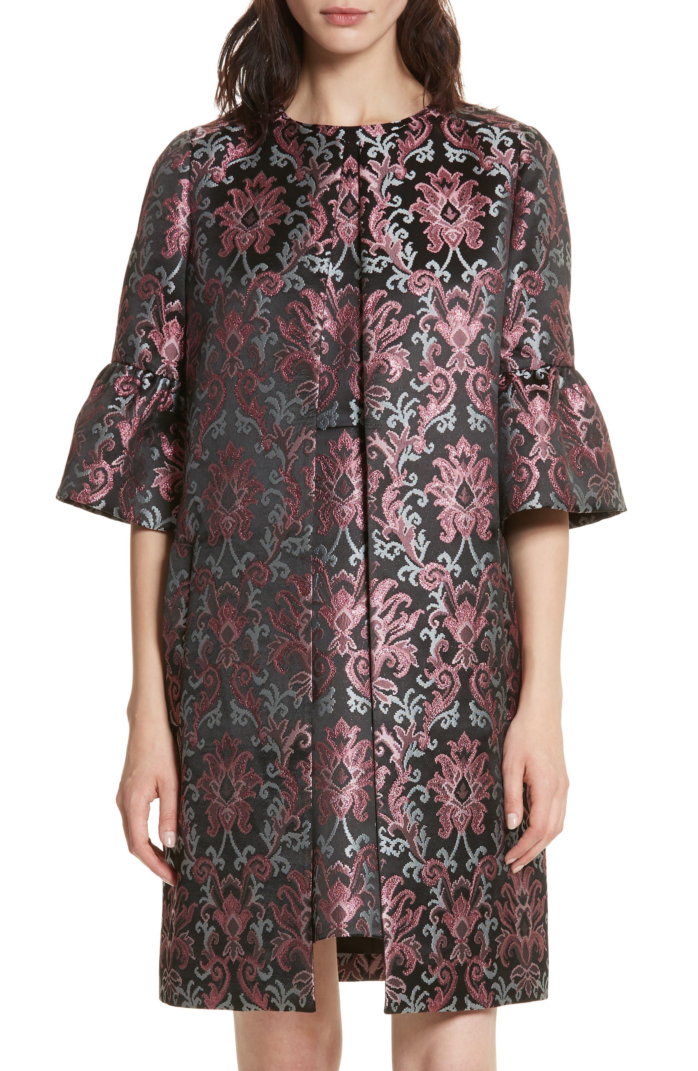 tapestry jacquard coat,                             Main thumbnail 1, color,                             Multi