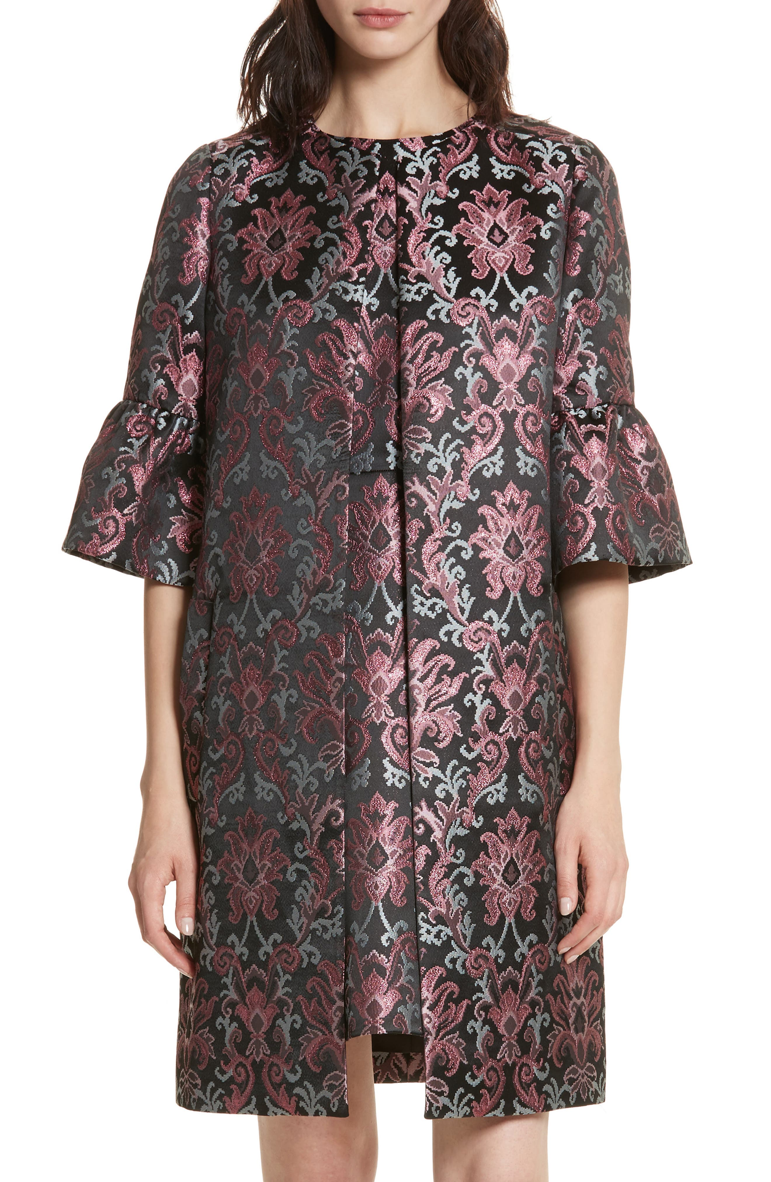 Main Image - kate spade new york tapestry jacquard coat