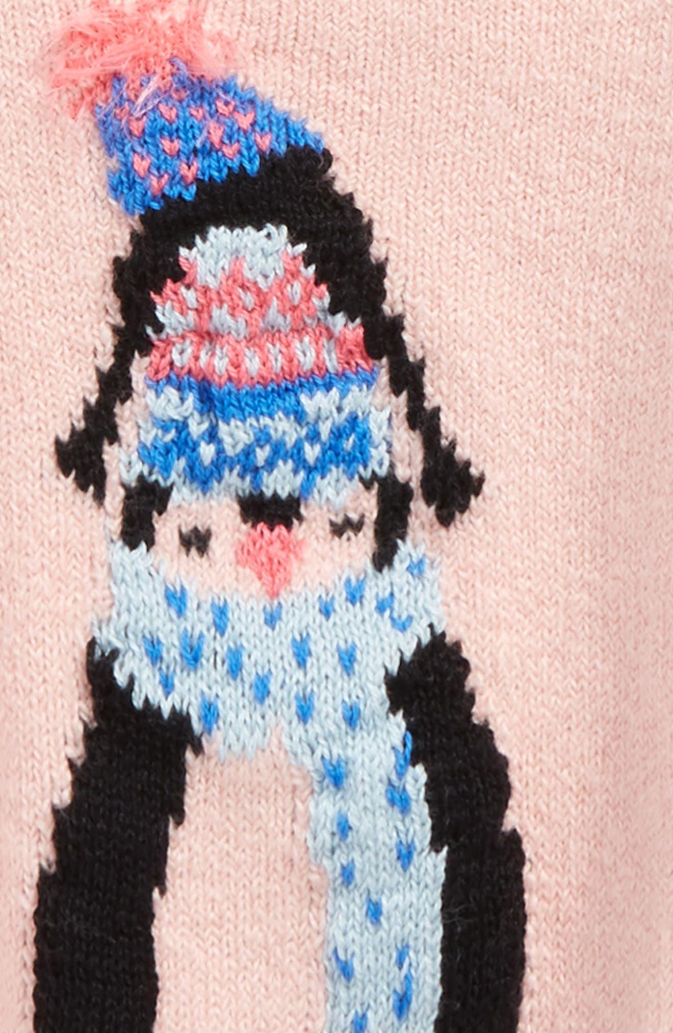 Penguin Sweater,                             Alternate thumbnail 2, color,                             Pink Silver Penguin