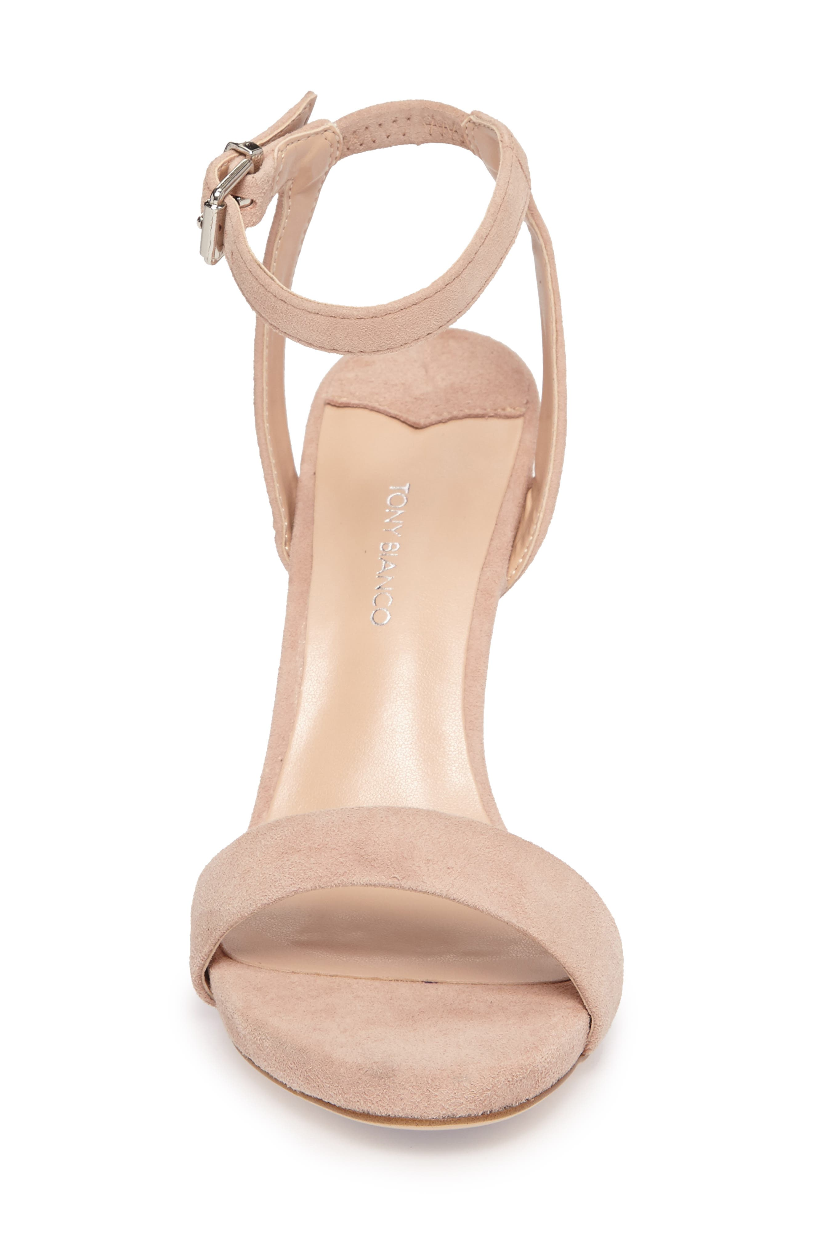 Char Ankle Cuff Sandal,                             Alternate thumbnail 4, color,                             Blush Suede