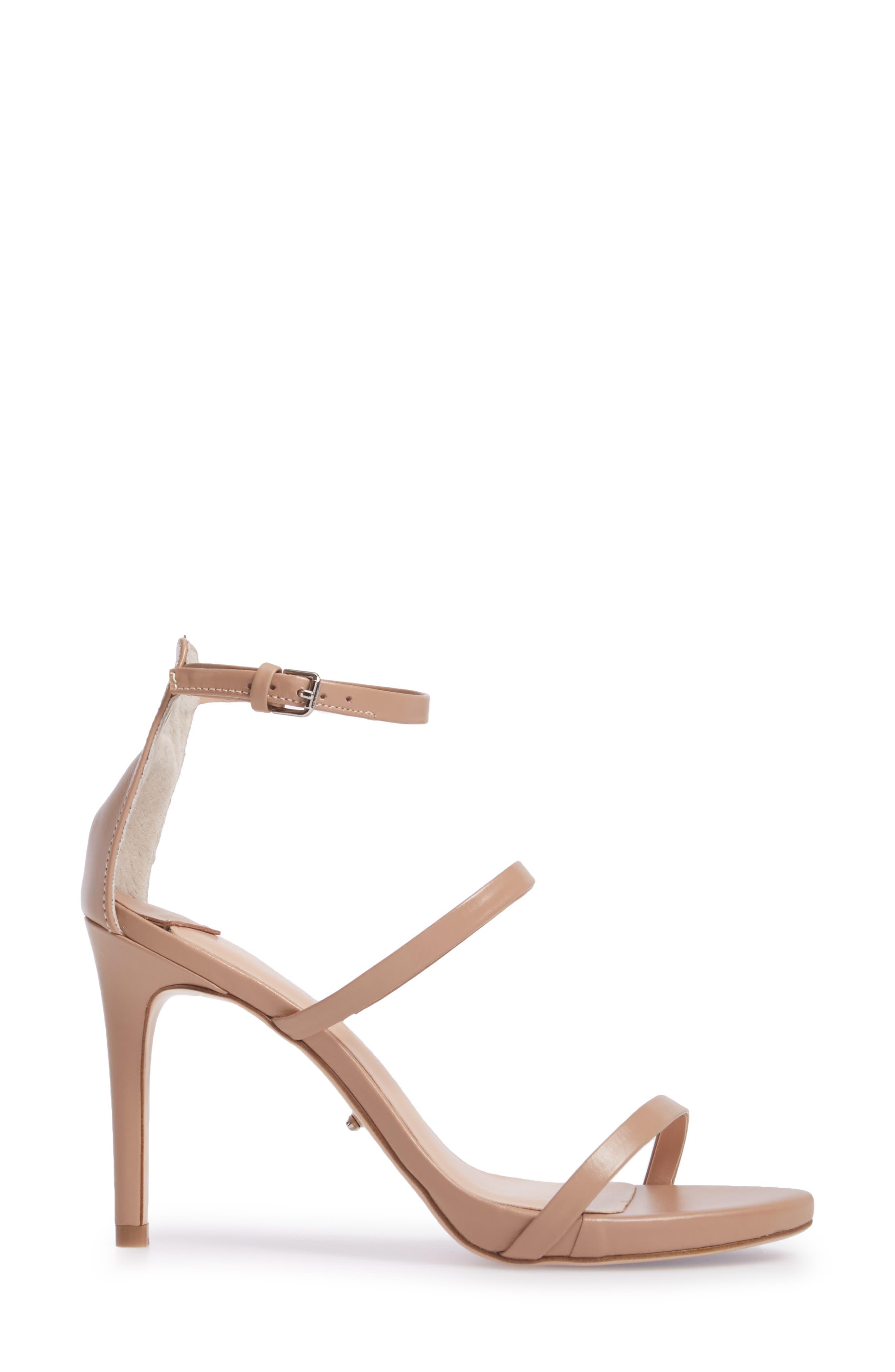 Carey Three-Strap Sandal,                             Alternate thumbnail 3, color,                             Skin Capretto Leather