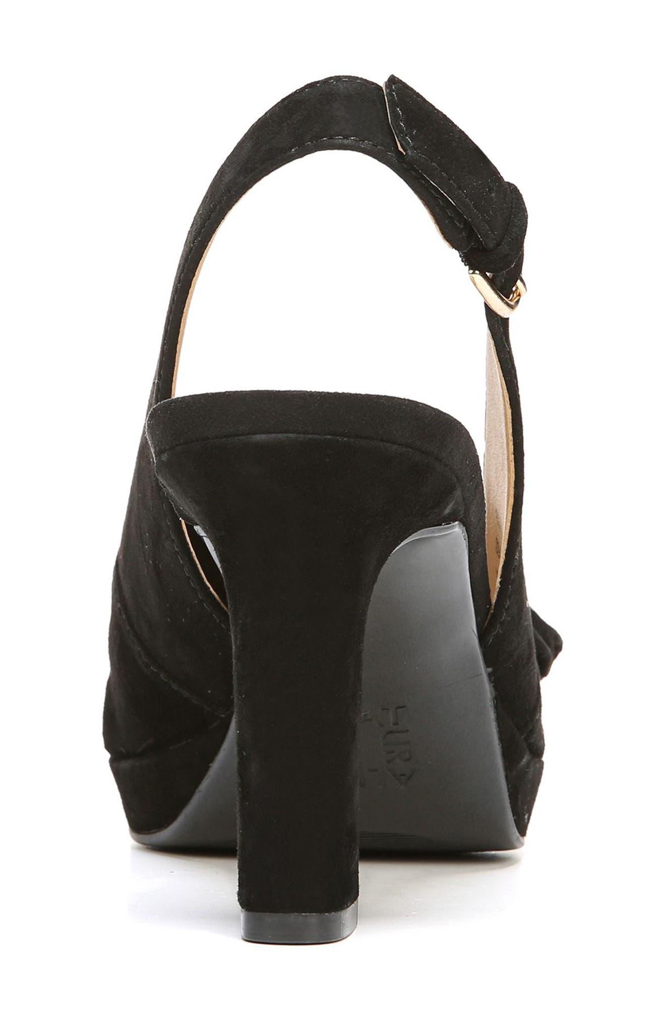 Fawn Slingback Sandal,                             Alternate thumbnail 6, color,                             Black Suede
