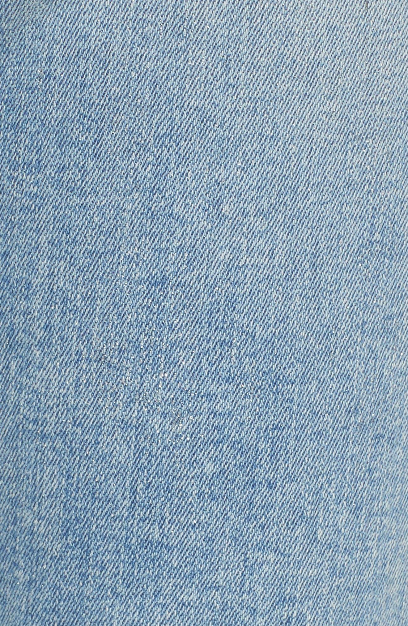 The Stiletto High Waist Skinny Jeans,                             Alternate thumbnail 5, color,                             Seville Destroy/ Foil