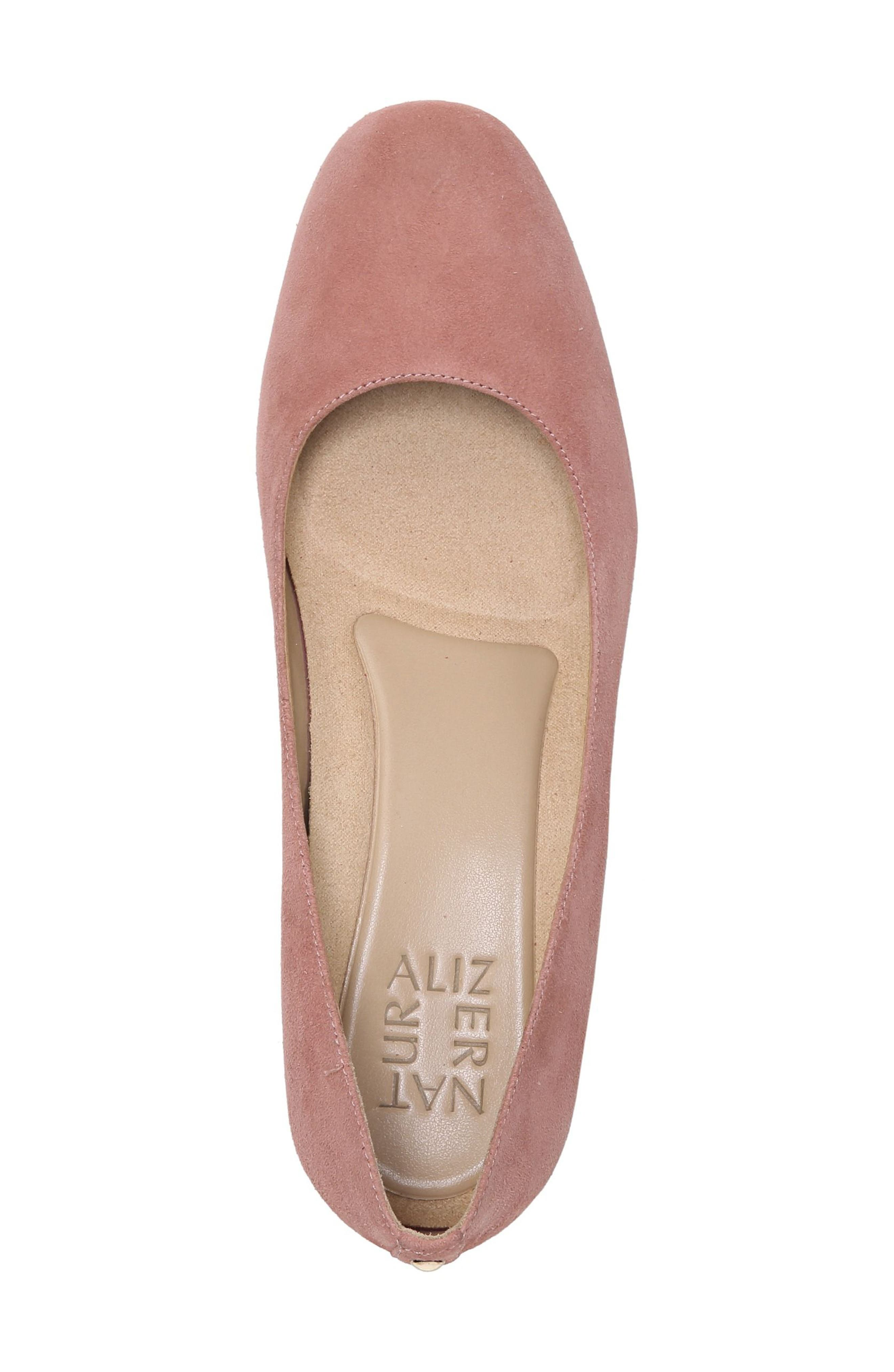 Emily Wedge Pump,                             Alternate thumbnail 7, color,                             Peony Pink Suede
