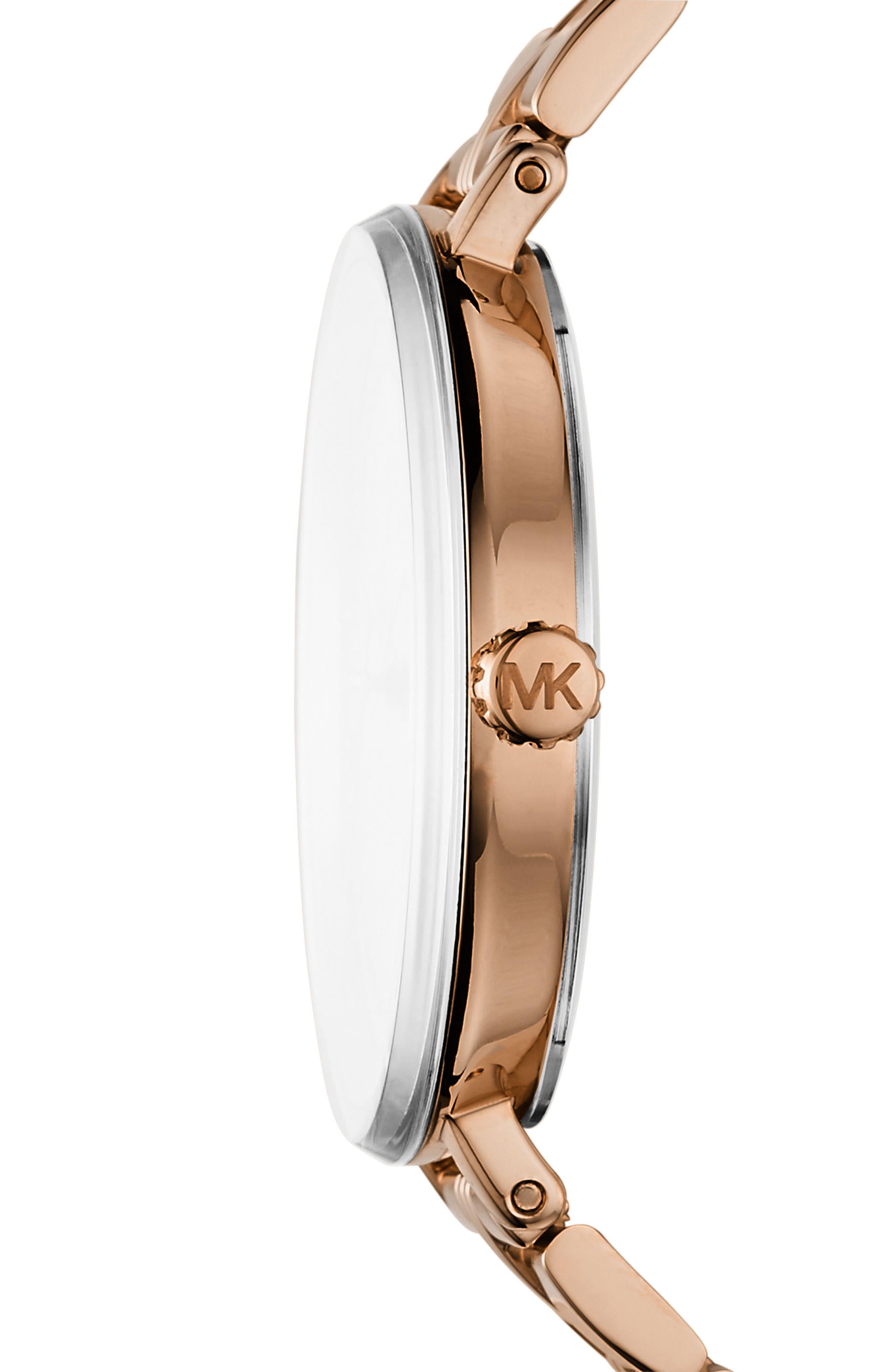 Bridgette Crystal Bracelet Watch, 38mm,                             Alternate thumbnail 2, color,                             Rose Gold