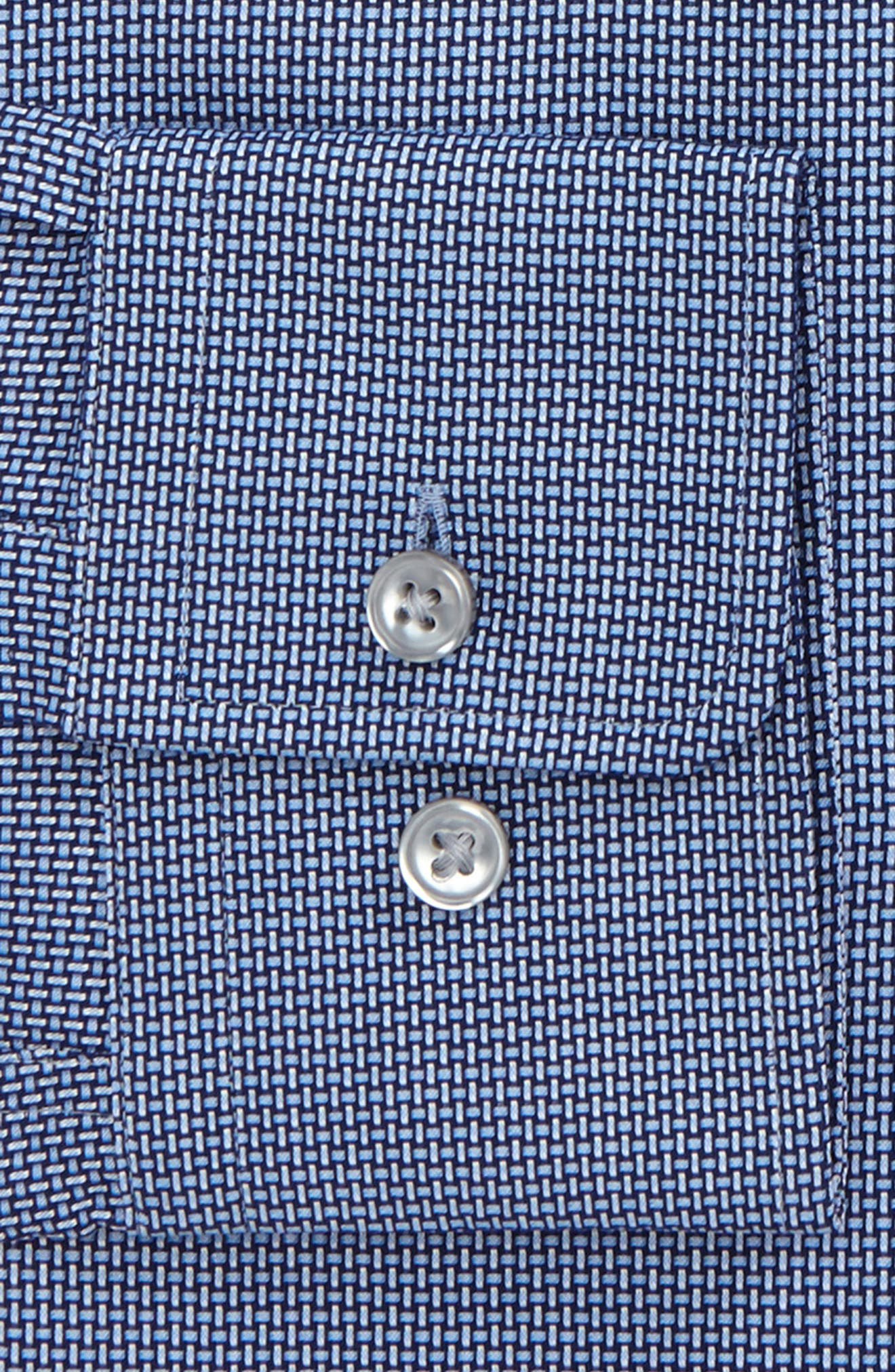 Marley Sharp Fit Solid Dress Shirt,                             Alternate thumbnail 4, color,                             Navy
