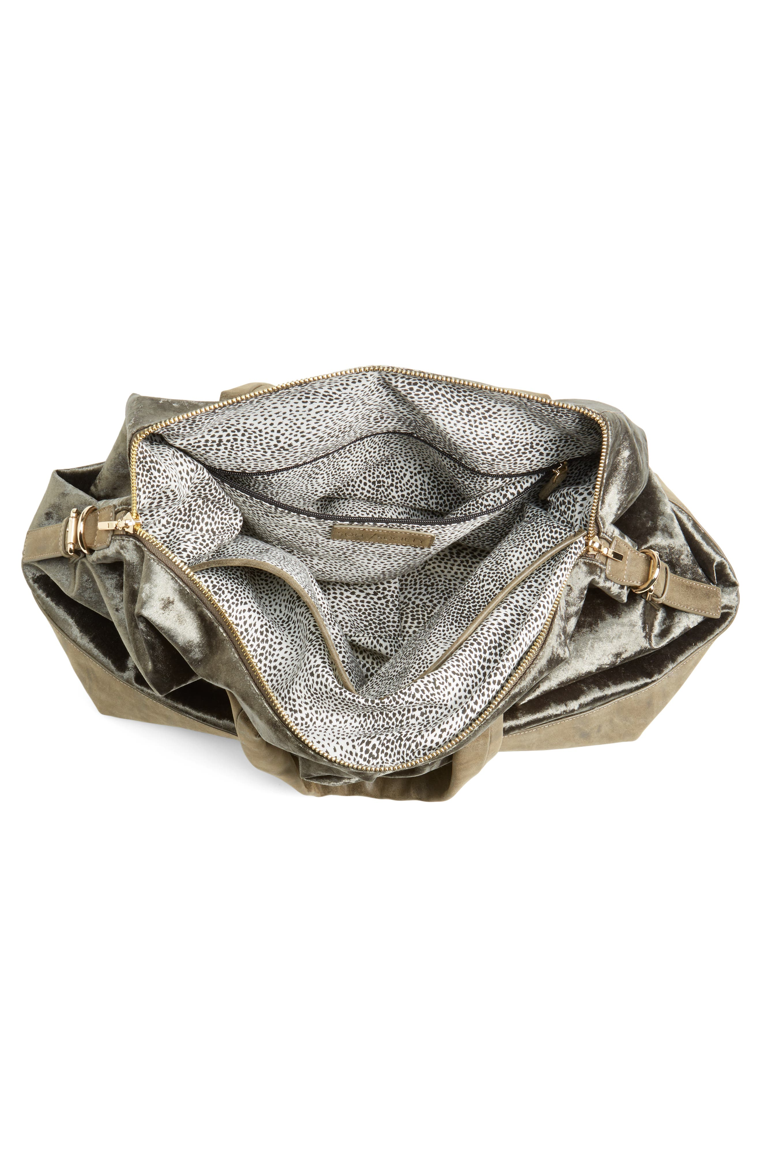 Alternate Image 4  - Sole Society Venti Velvet Duffel Bag