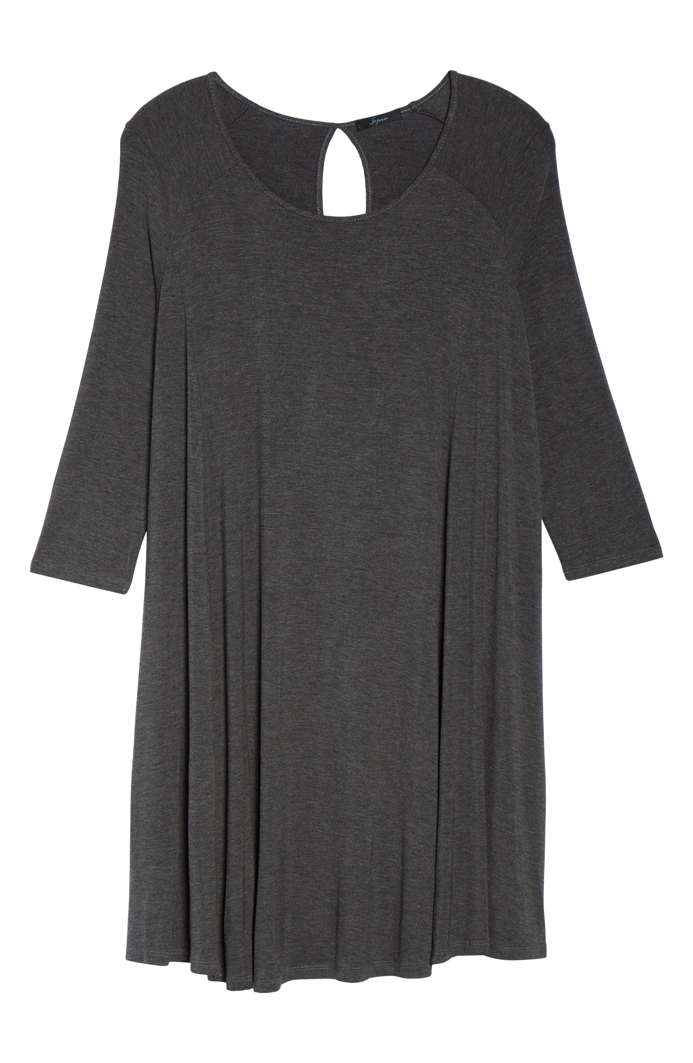 Swing Dress,                             Alternate thumbnail 6, color,                             Charcoal Grey