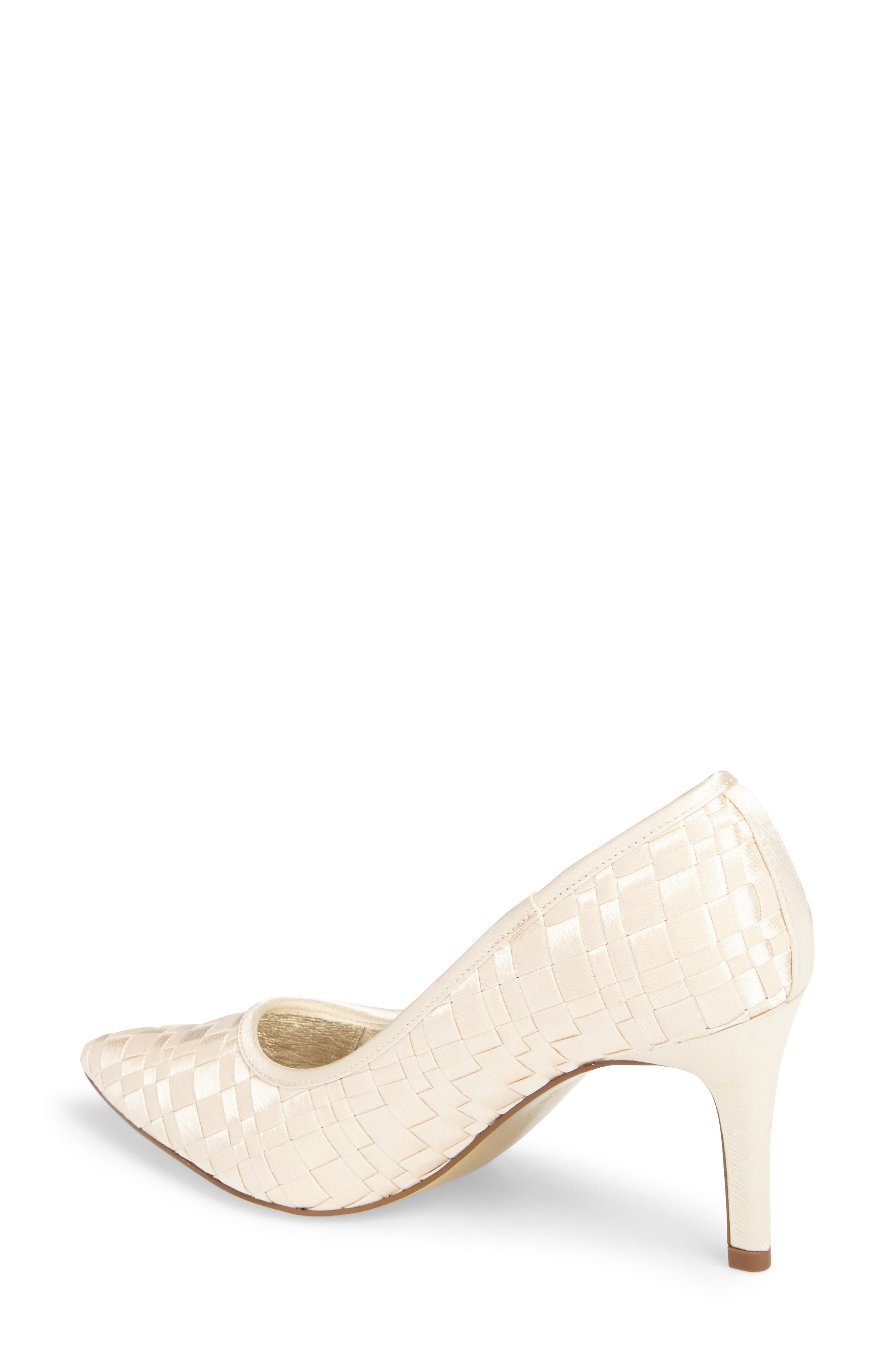 Hasting Pointy Toe Pump,                             Alternate thumbnail 2, color,                             Champagne Satin