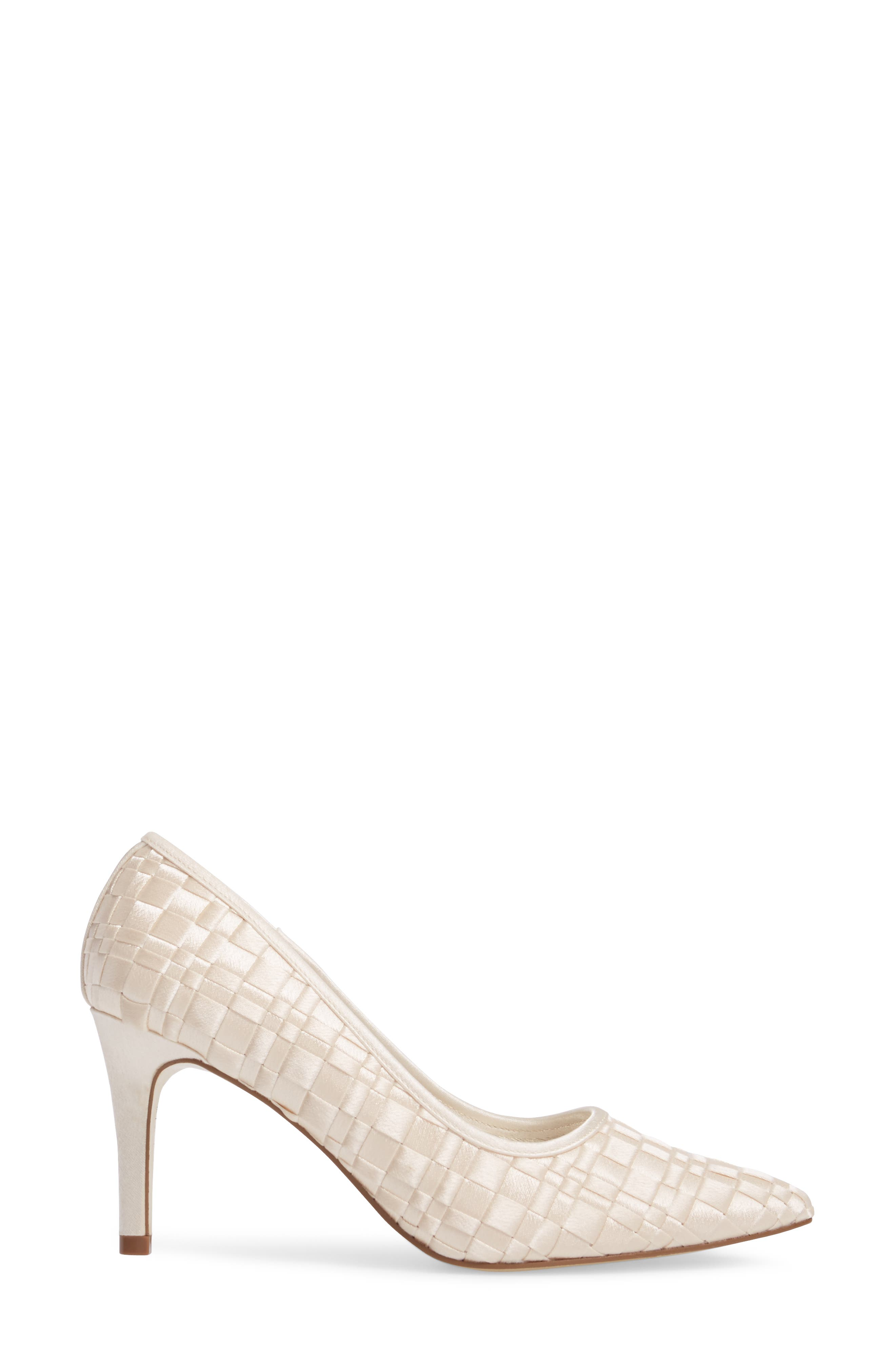 Hasting Pointy Toe Pump,                             Alternate thumbnail 3, color,                             Champagne Satin