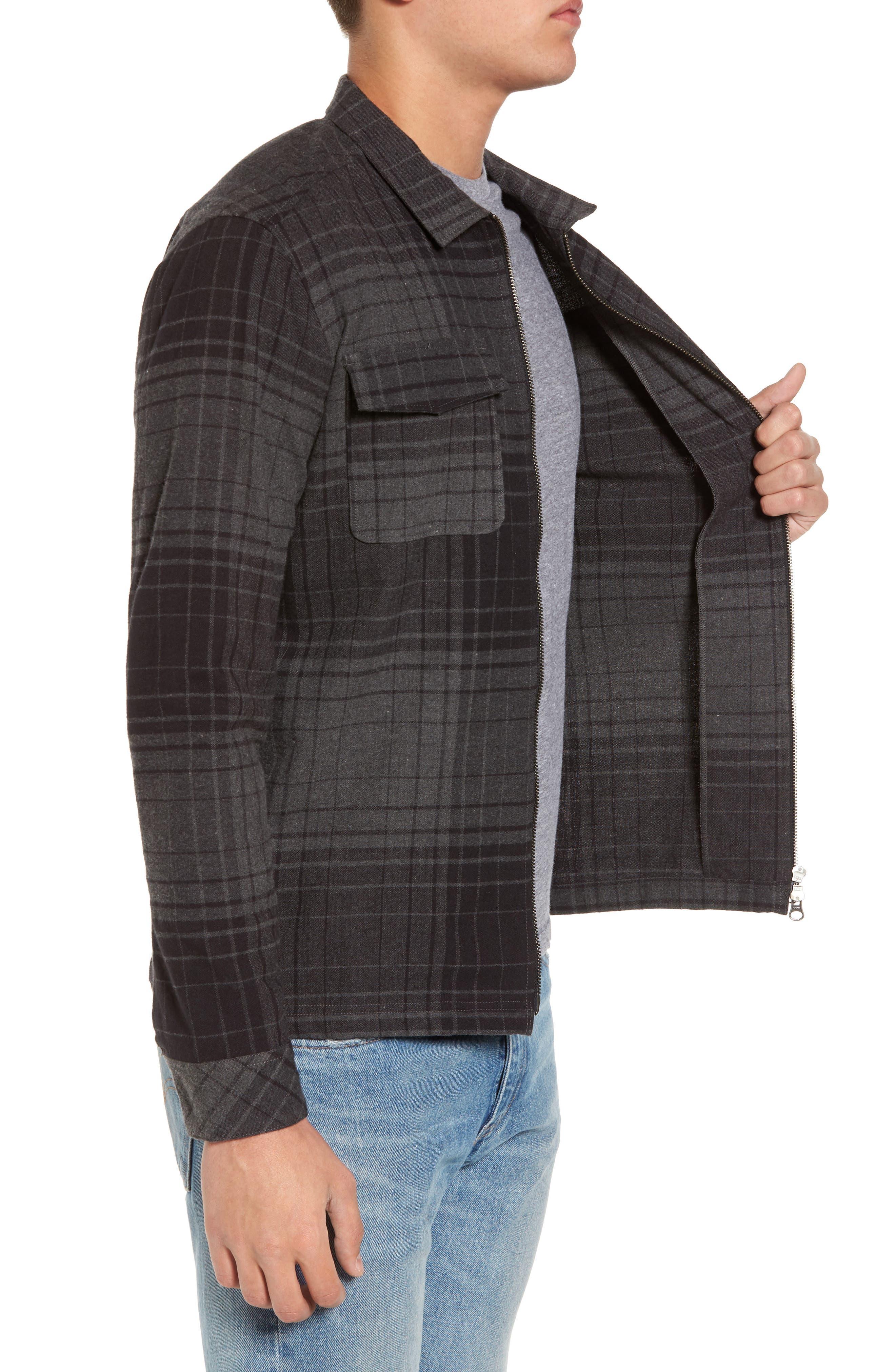 Lamar Shirt Jacket,                             Alternate thumbnail 3, color,                             Black