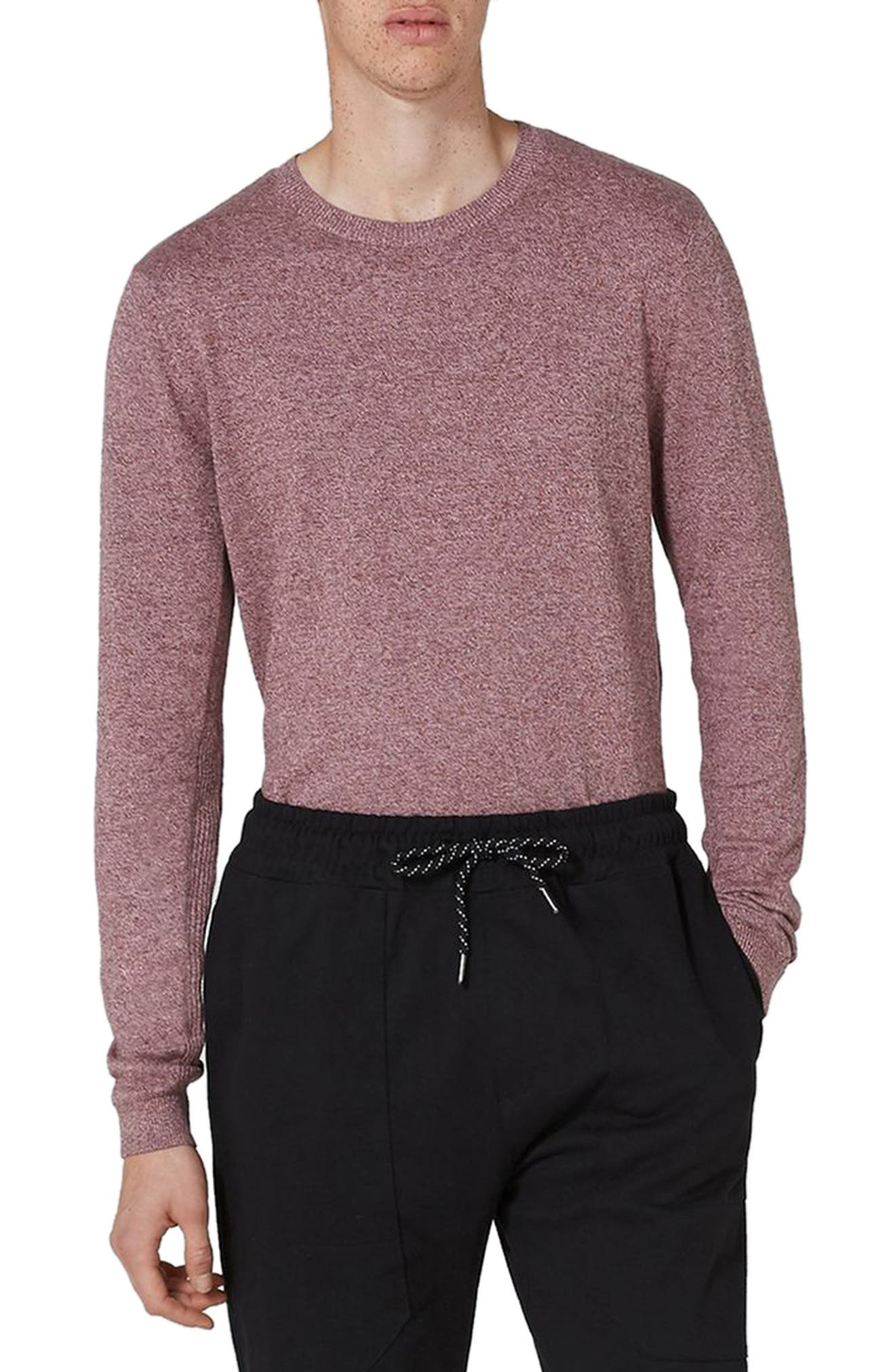 Topman Side Ribbed Slim Fit Sweater