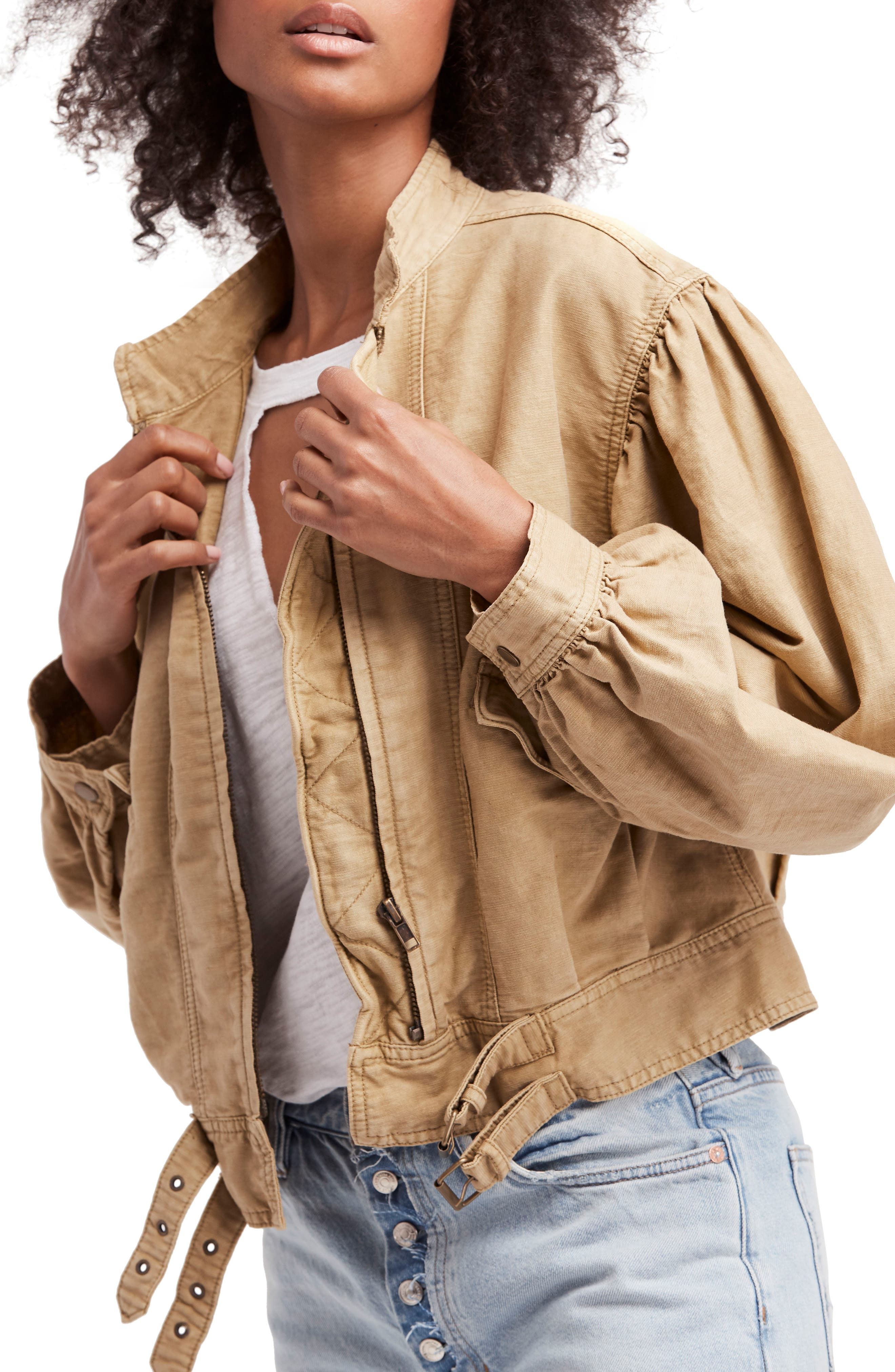 Poet Jacket,                             Main thumbnail 1, color,                             Taupe