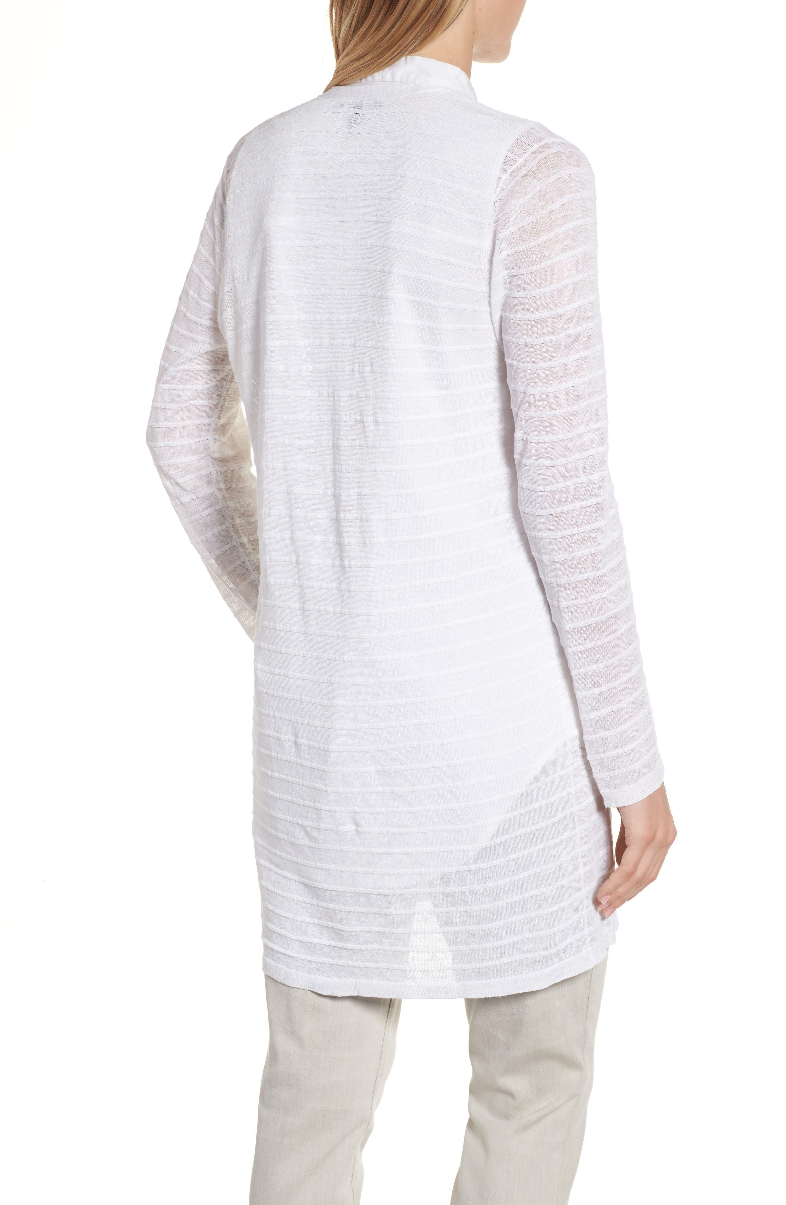 Alternate Image 2  - Eileen Fisher Long Organic Linen Blend Jacquard Cardigan