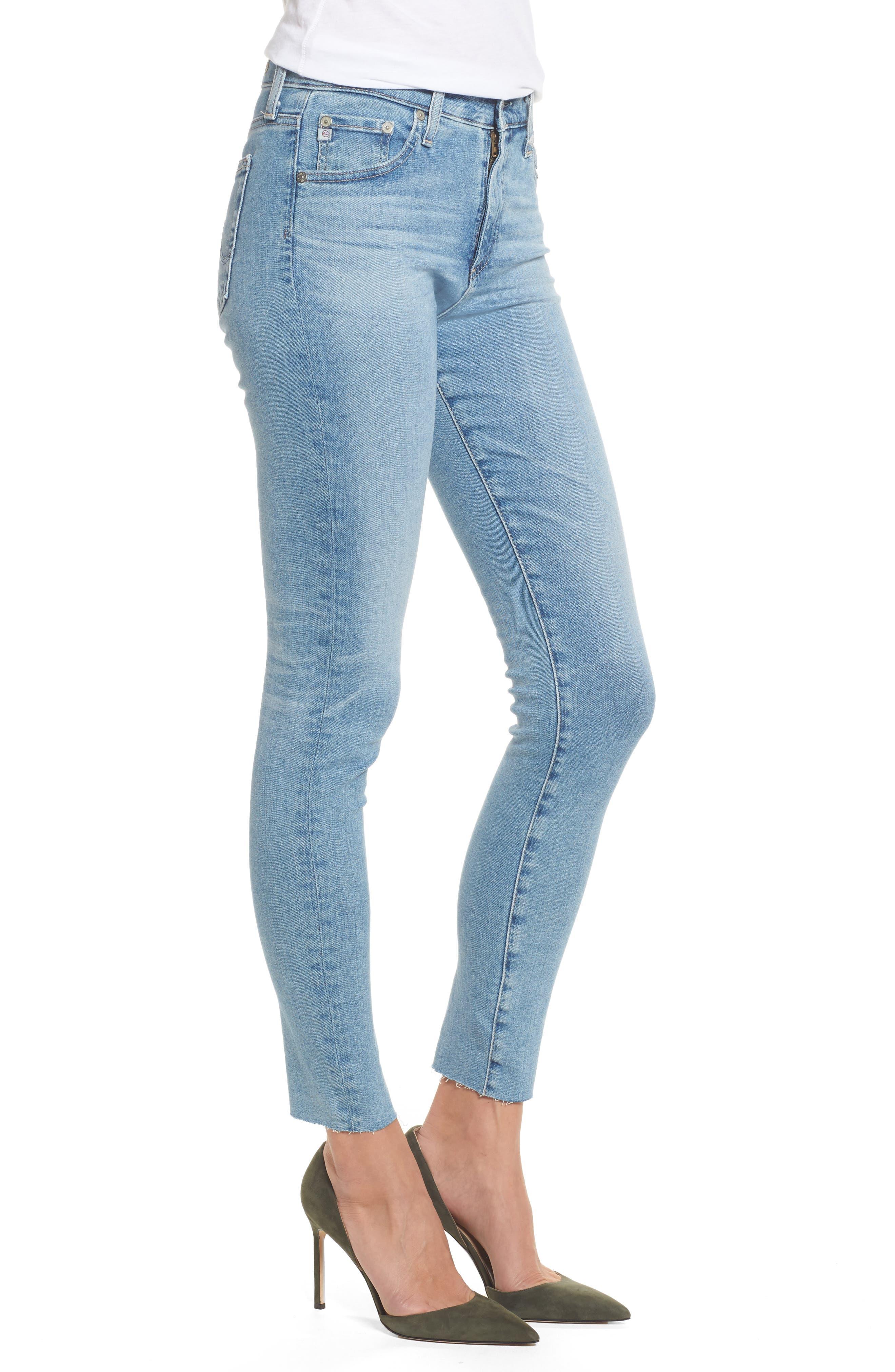 The Farrah High Waist Ankle Skinny Jeans,                             Alternate thumbnail 3, color,                             18 Years Cruising