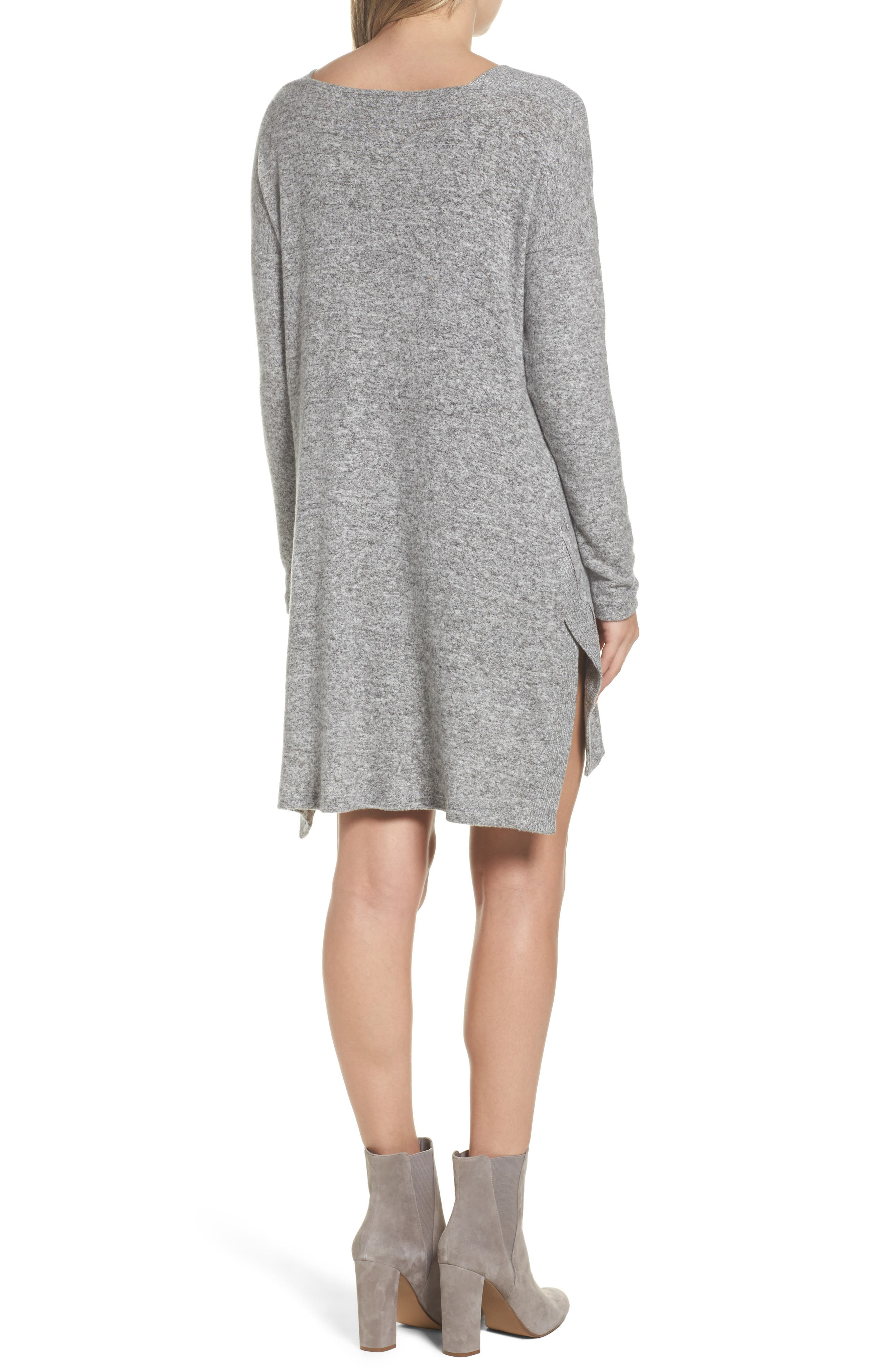 Sweater Dress,                             Alternate thumbnail 2, color,                             Grey