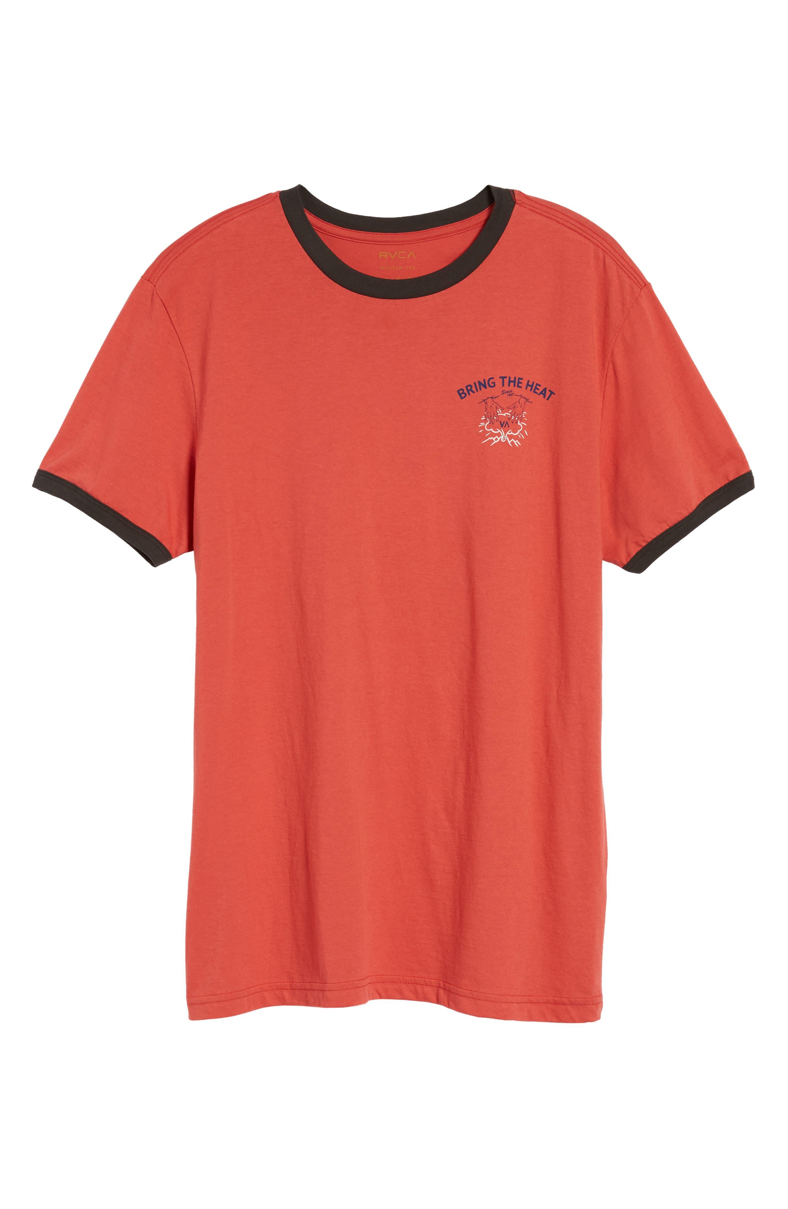 Bringing the Heat T-Shirt,                             Alternate thumbnail 6, color,                             Rosewood