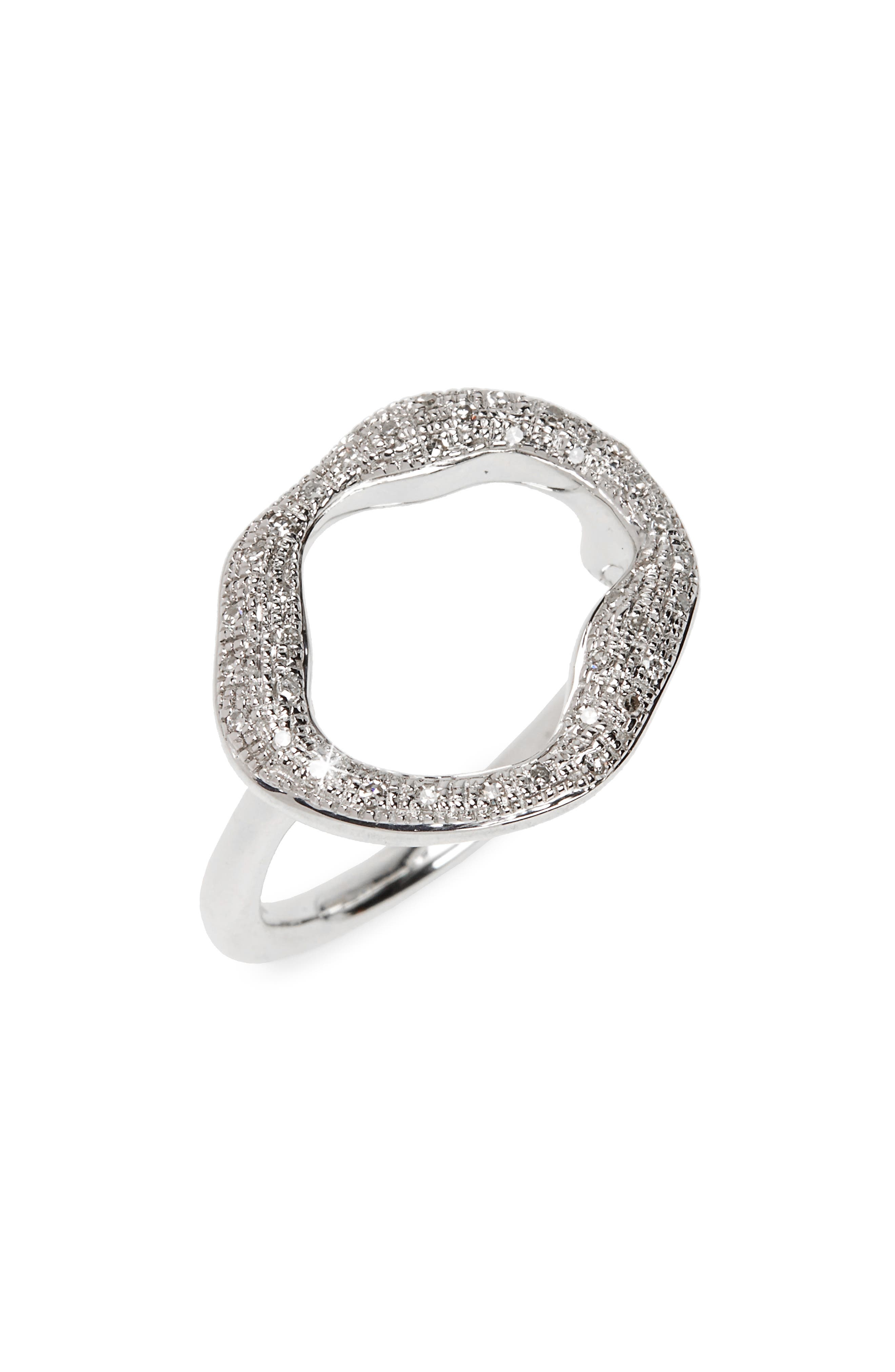 Monica Vinader Pavé Diamond Circle Ring (Special Purchase)