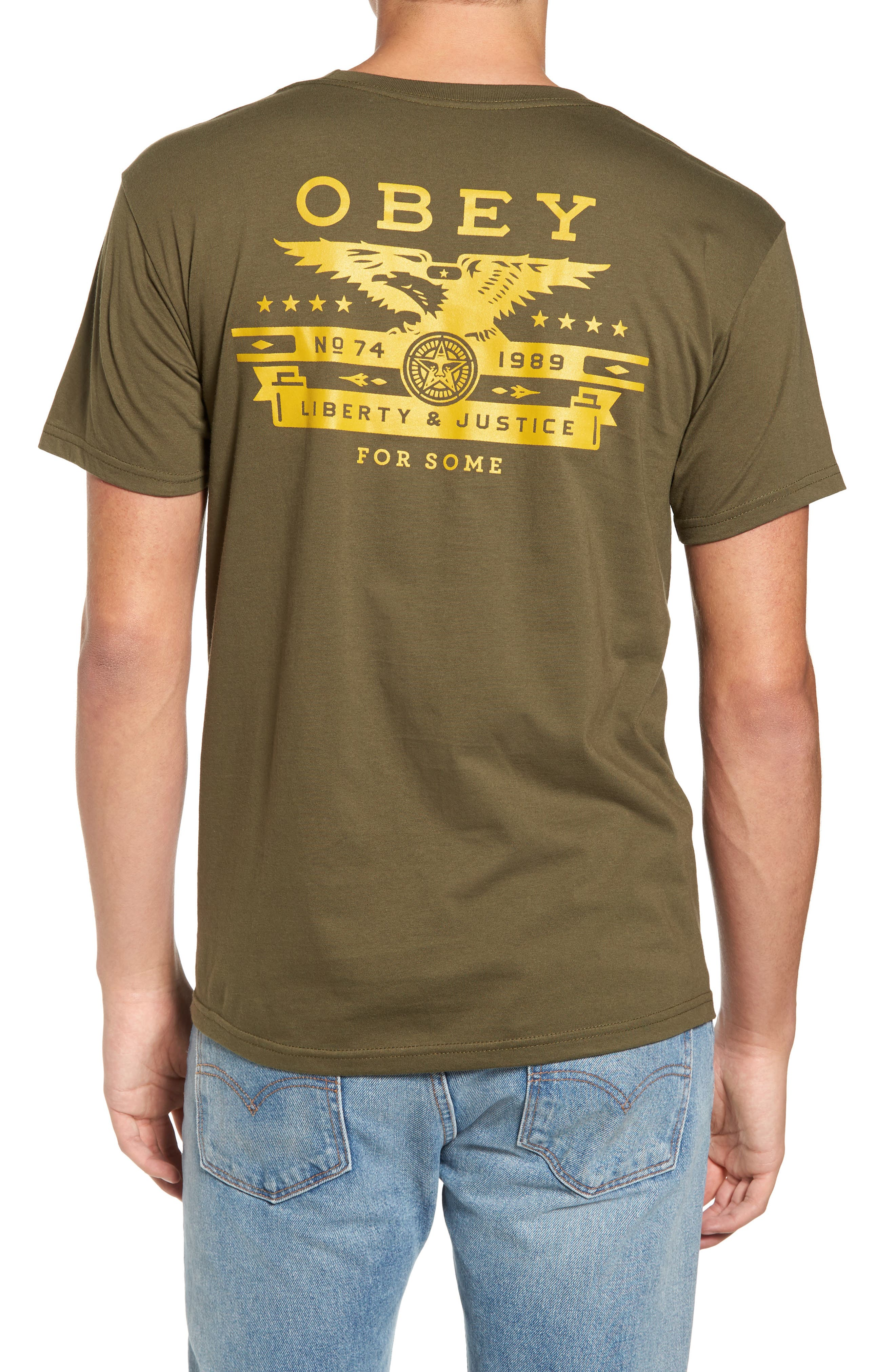 Alternate Image 2  - Obey Dissent & Justice T-Shirt